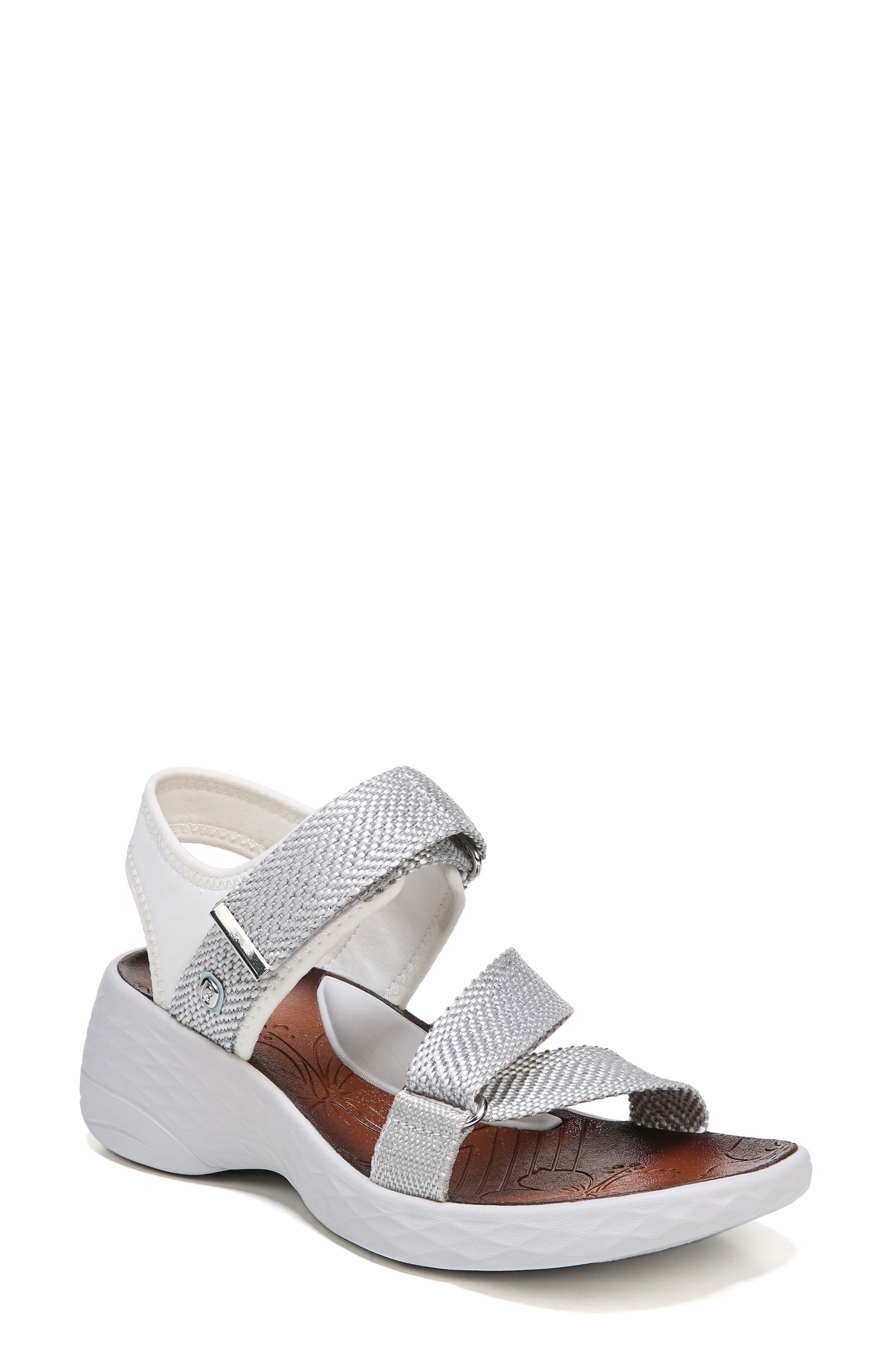 Jive Sandal,                             Main thumbnail 1, color,                             White Fabric