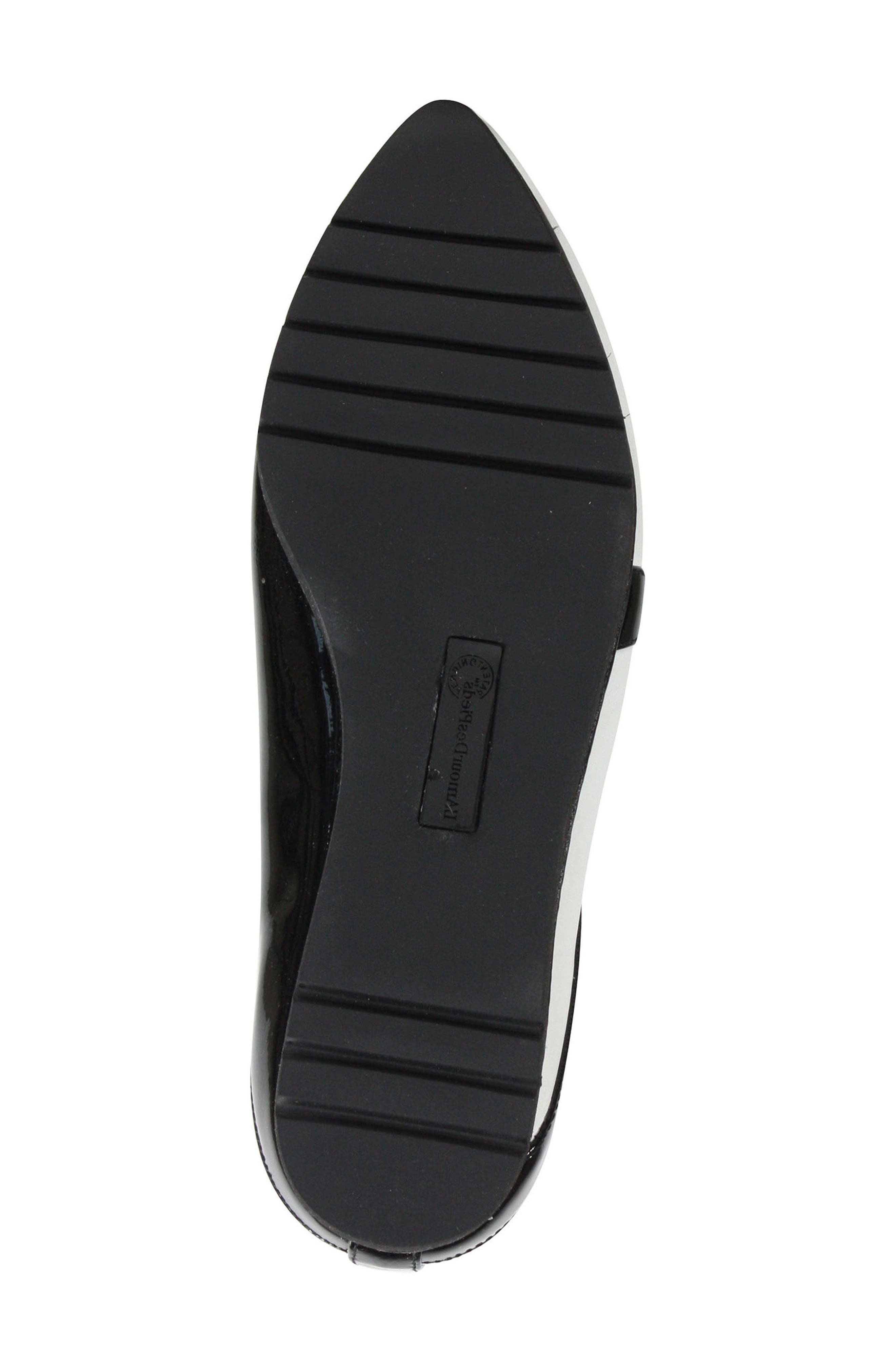 Marjolaina Loafer,                             Alternate thumbnail 7, color,                             Black/ White Patent Leather