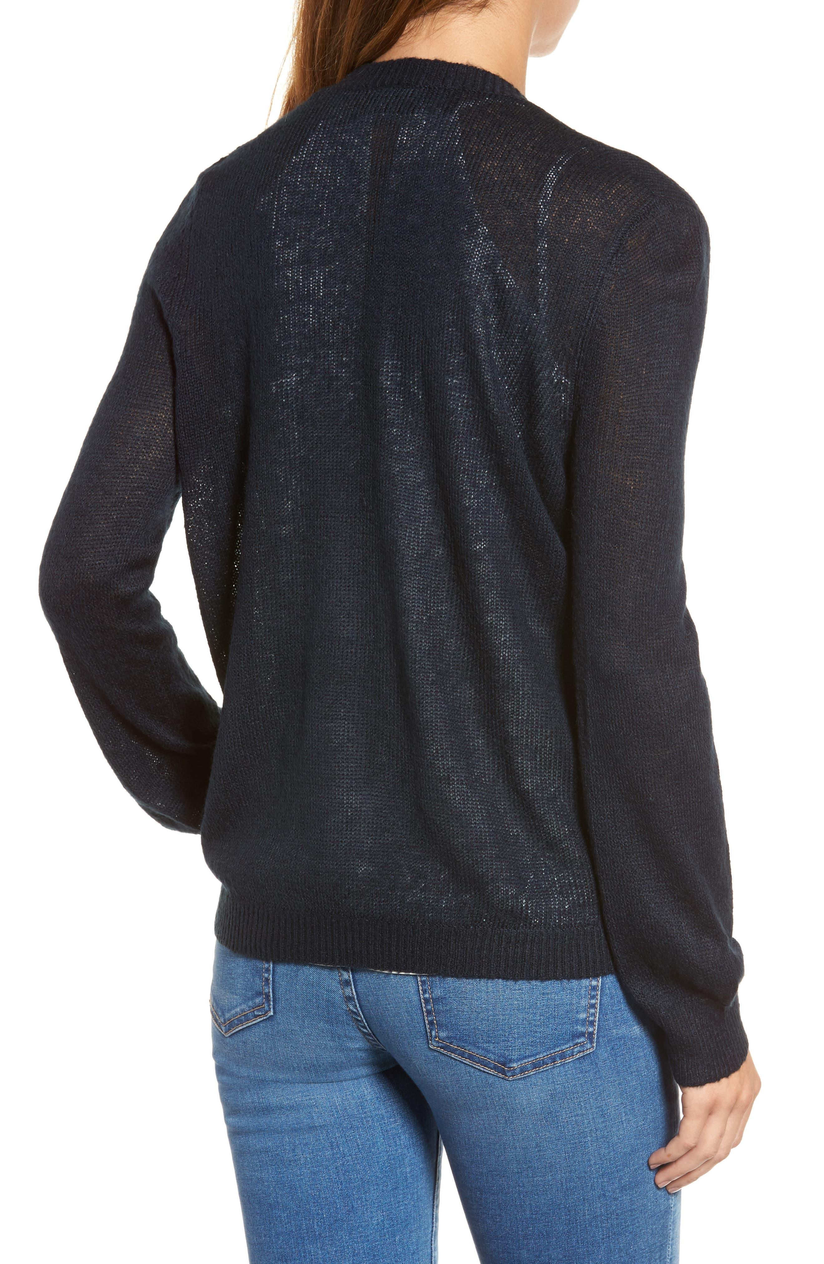 V-Neck Wrap Sweater,                             Alternate thumbnail 2, color,                             Deepest Navy