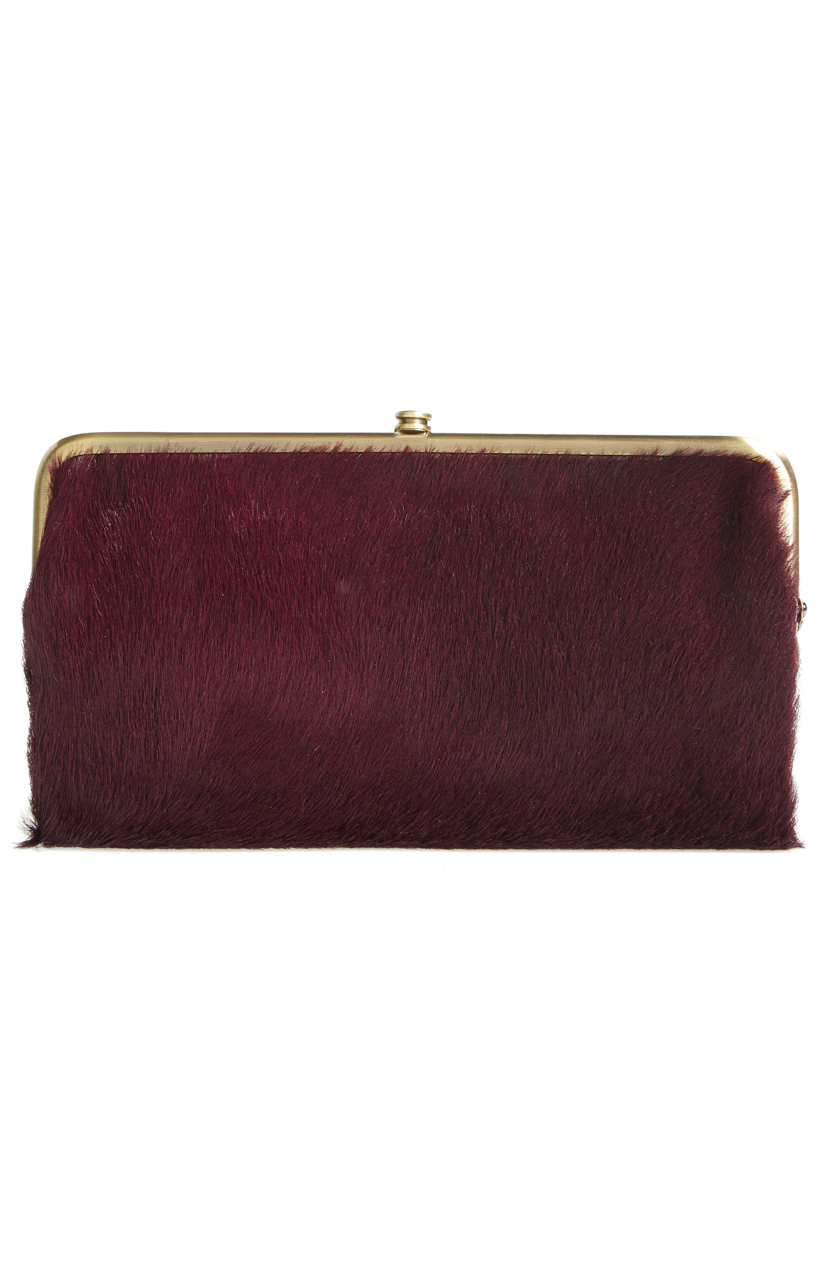 Alternate Image 4  - Hobo Lauren Colorblock Genuine Calf Hair & Calfskin Leather Wallet