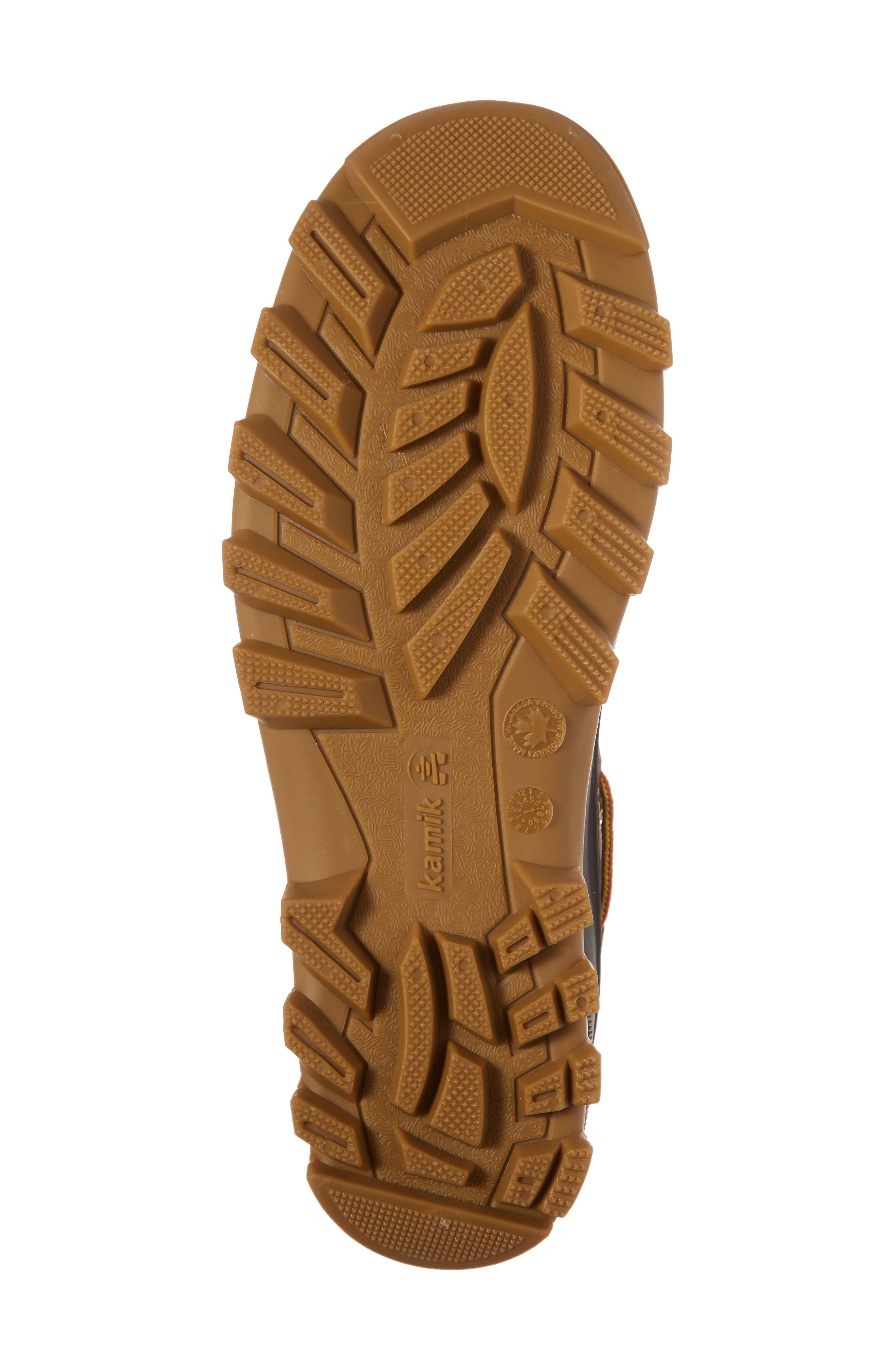 Yukon Short Boot,                             Alternate thumbnail 6, color,                             Dark Brown Leather