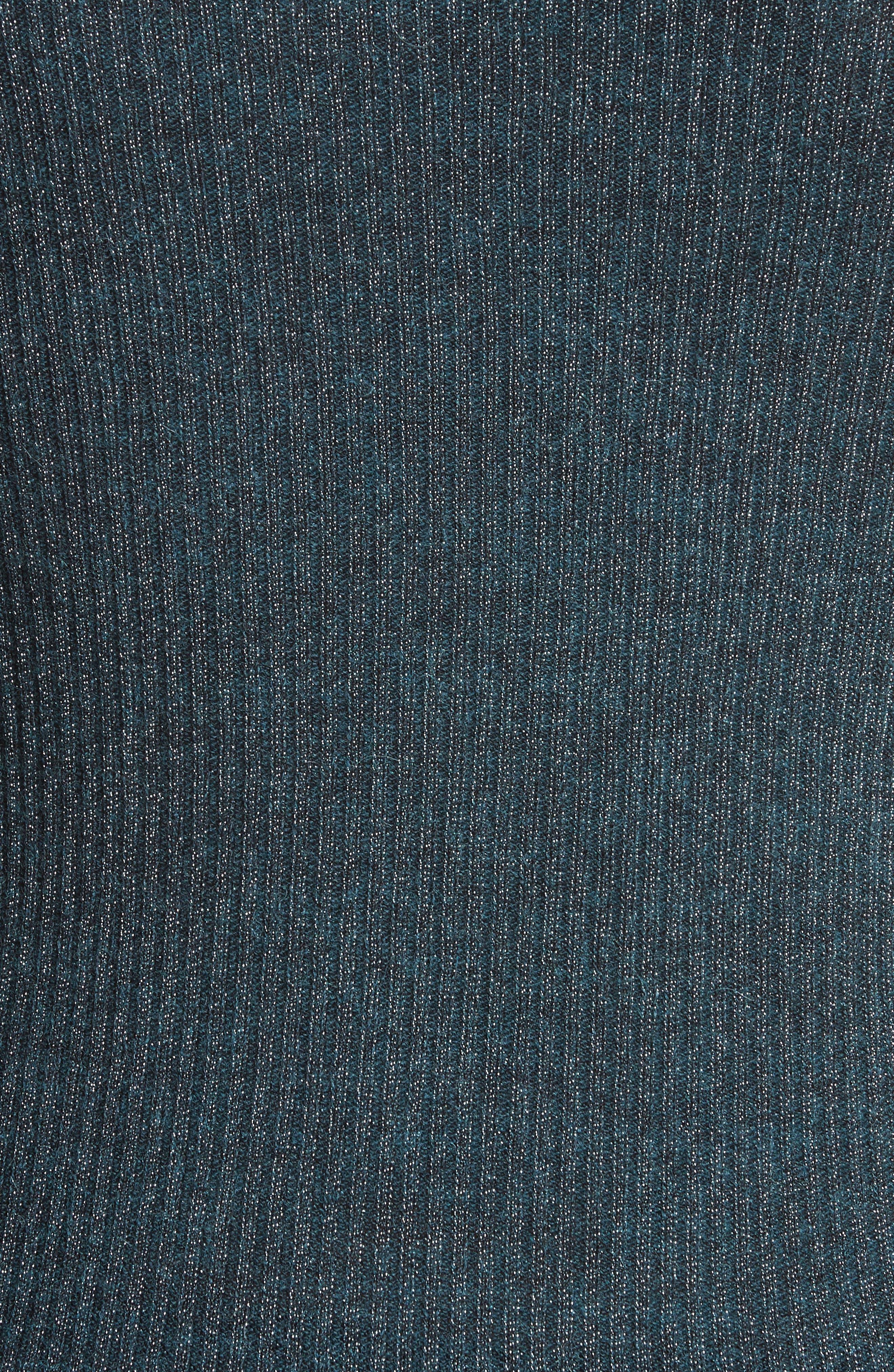 Alternate Image 5  - Rebecca Taylor Metallic Cold Shoulder Pullover
