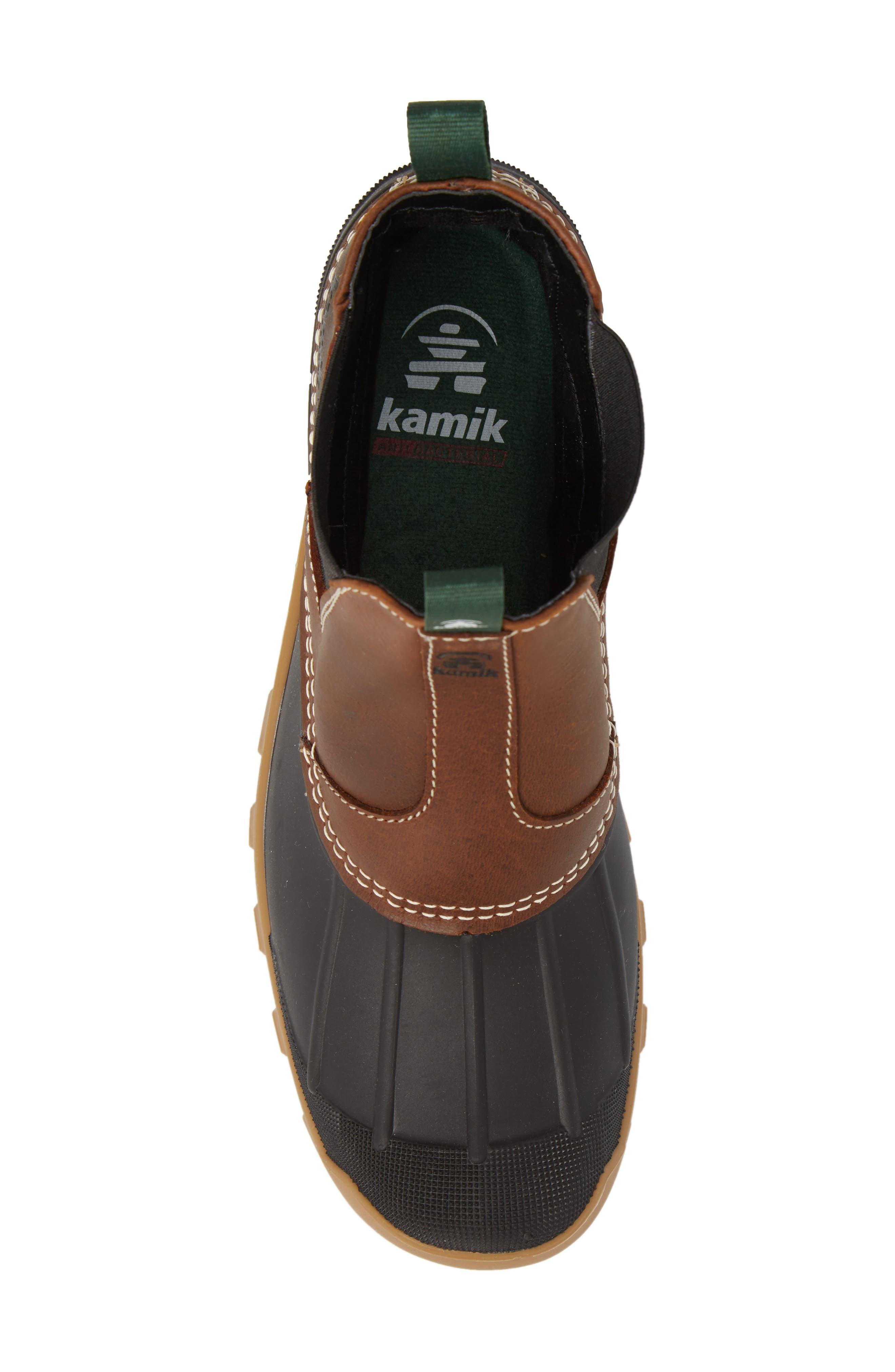 Yukon Chelsea Boot,                             Alternate thumbnail 5, color,                             Dark Brown Leather