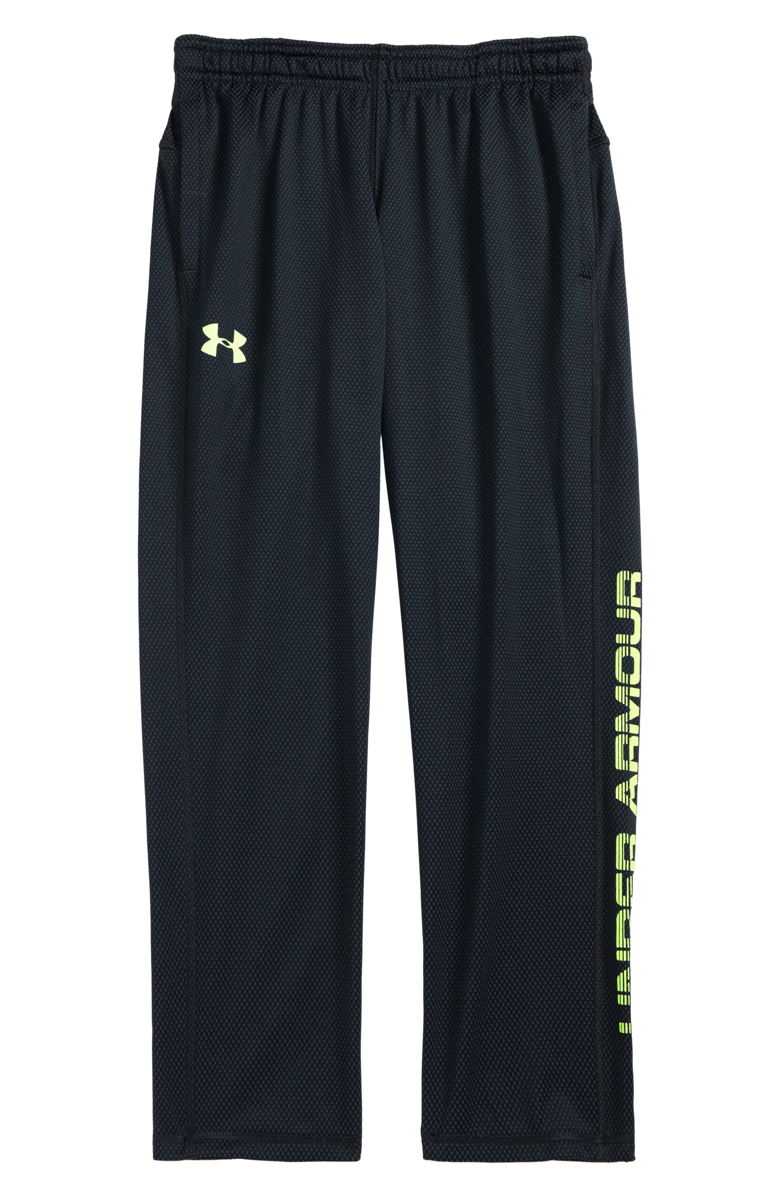 Tech Mesh Pants,                         Main,                         color, Anthracite/ Quirky Lime