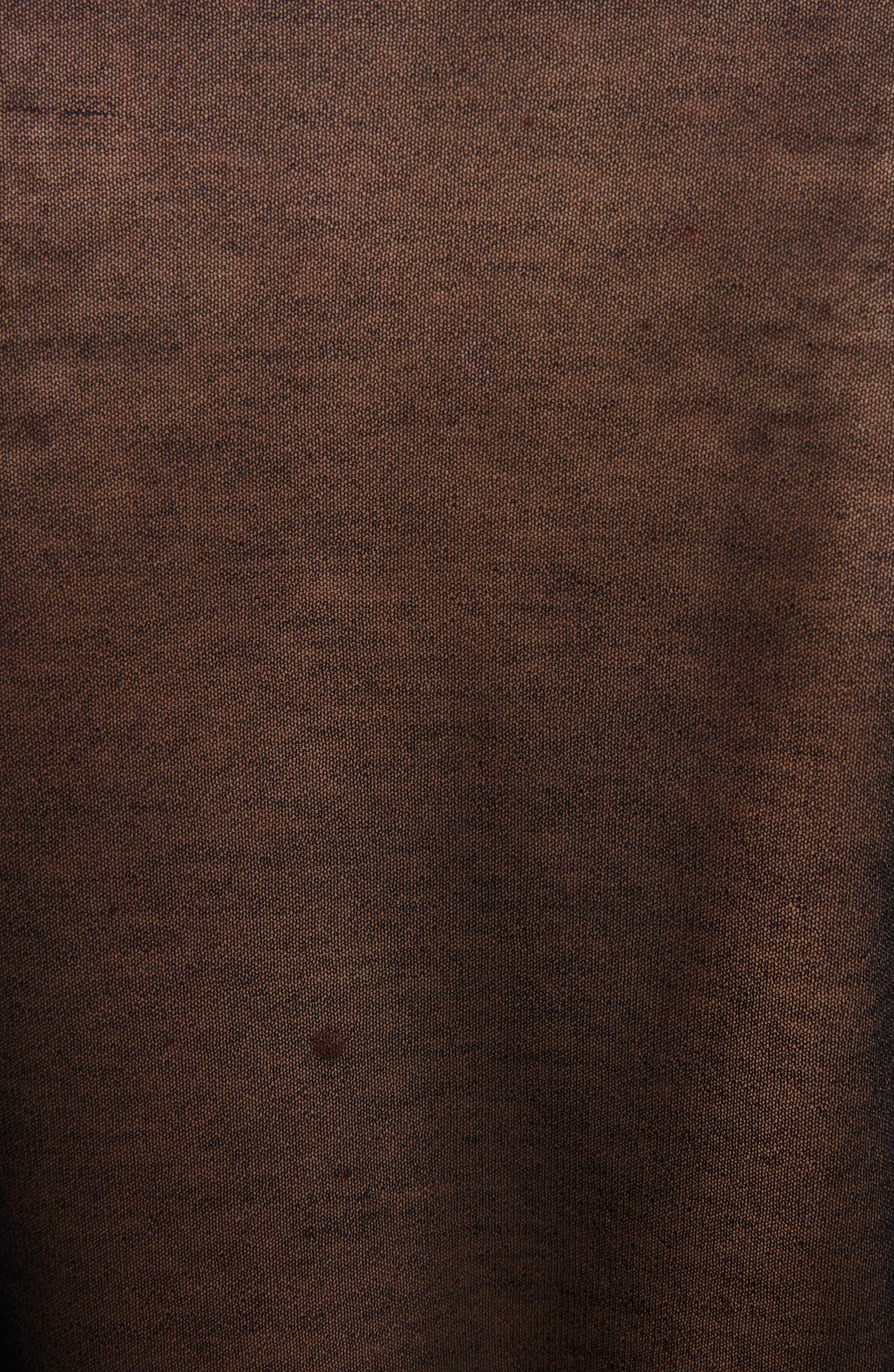 Sheer Cotton Knit Top,                             Alternate thumbnail 5, color,                             Black