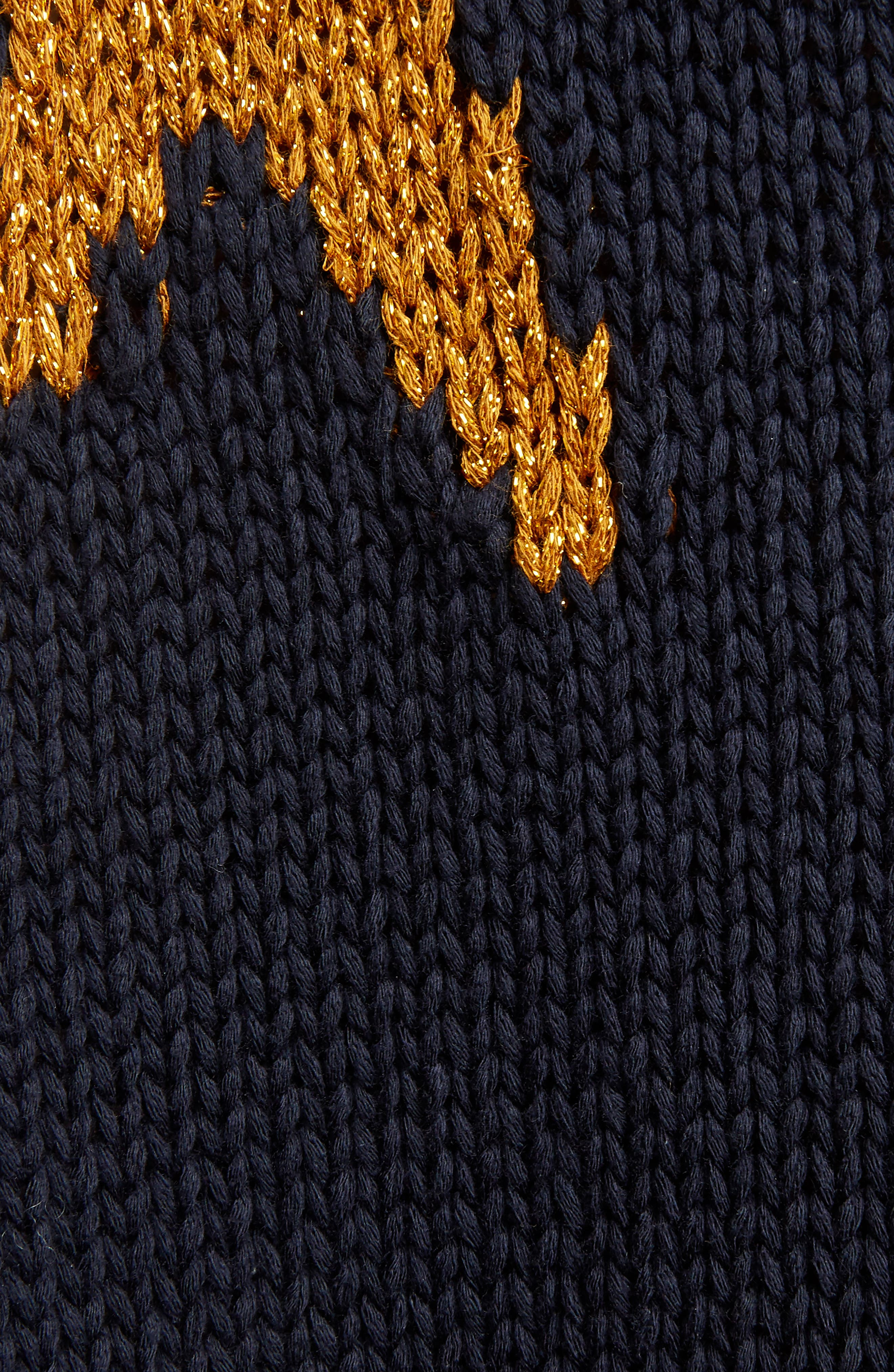 Starfish Intarsia Sweater,                             Alternate thumbnail 6, color,                             Navy