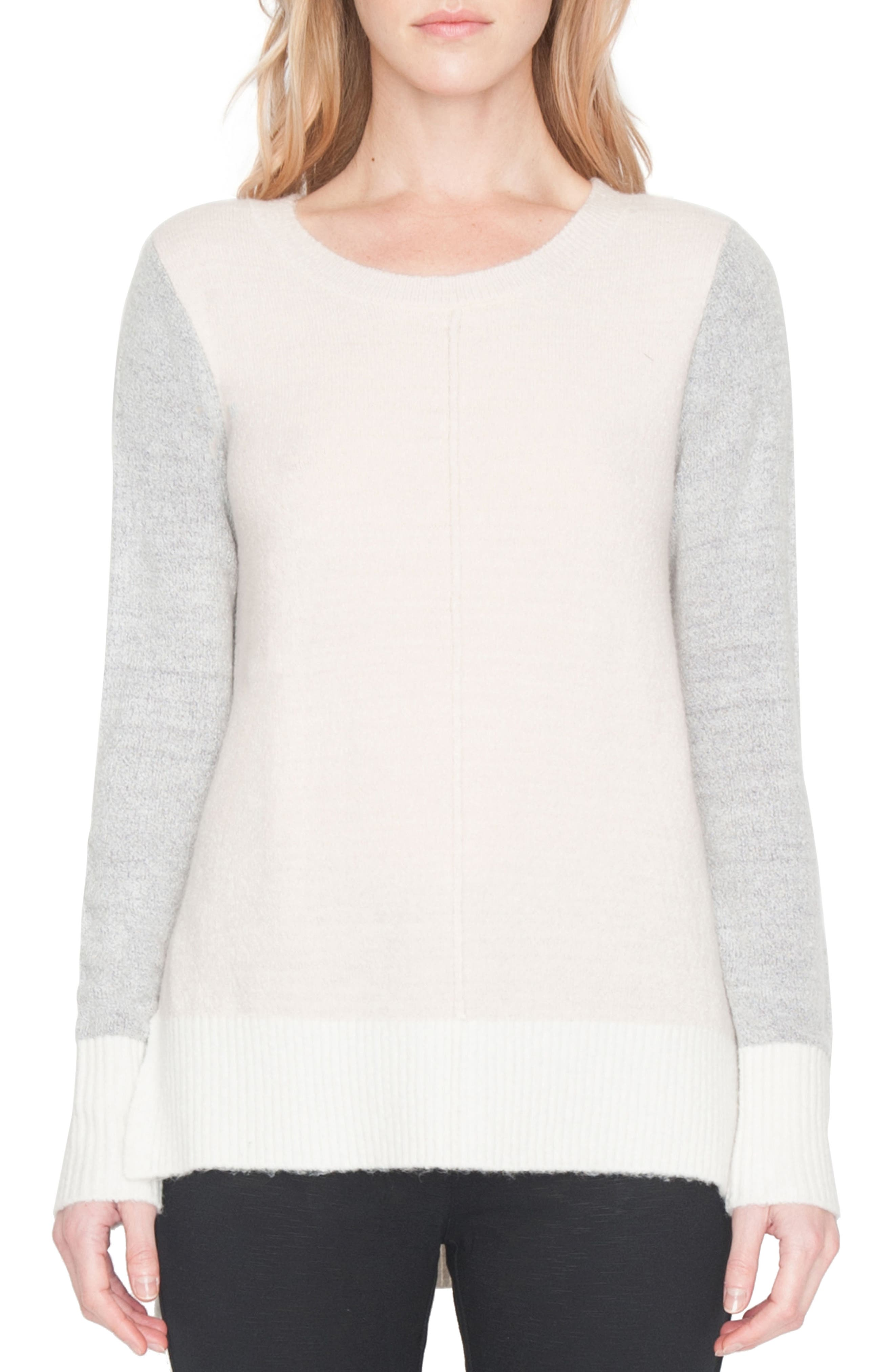 Fuzzy Sweater,                         Main,                         color, Ivory