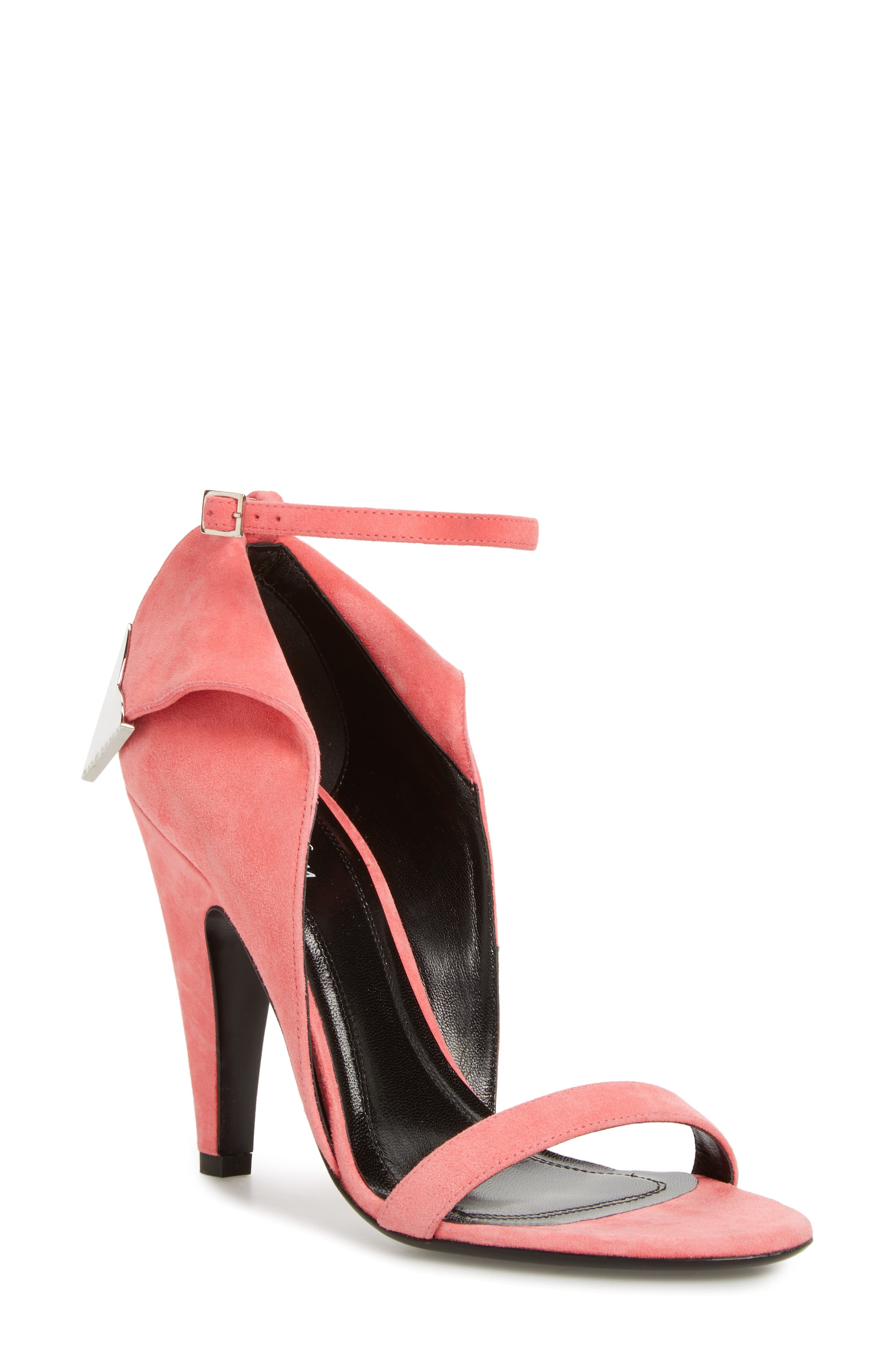 Leititia Ankle Strap Sandal,                             Main thumbnail 1, color,                             Blush
