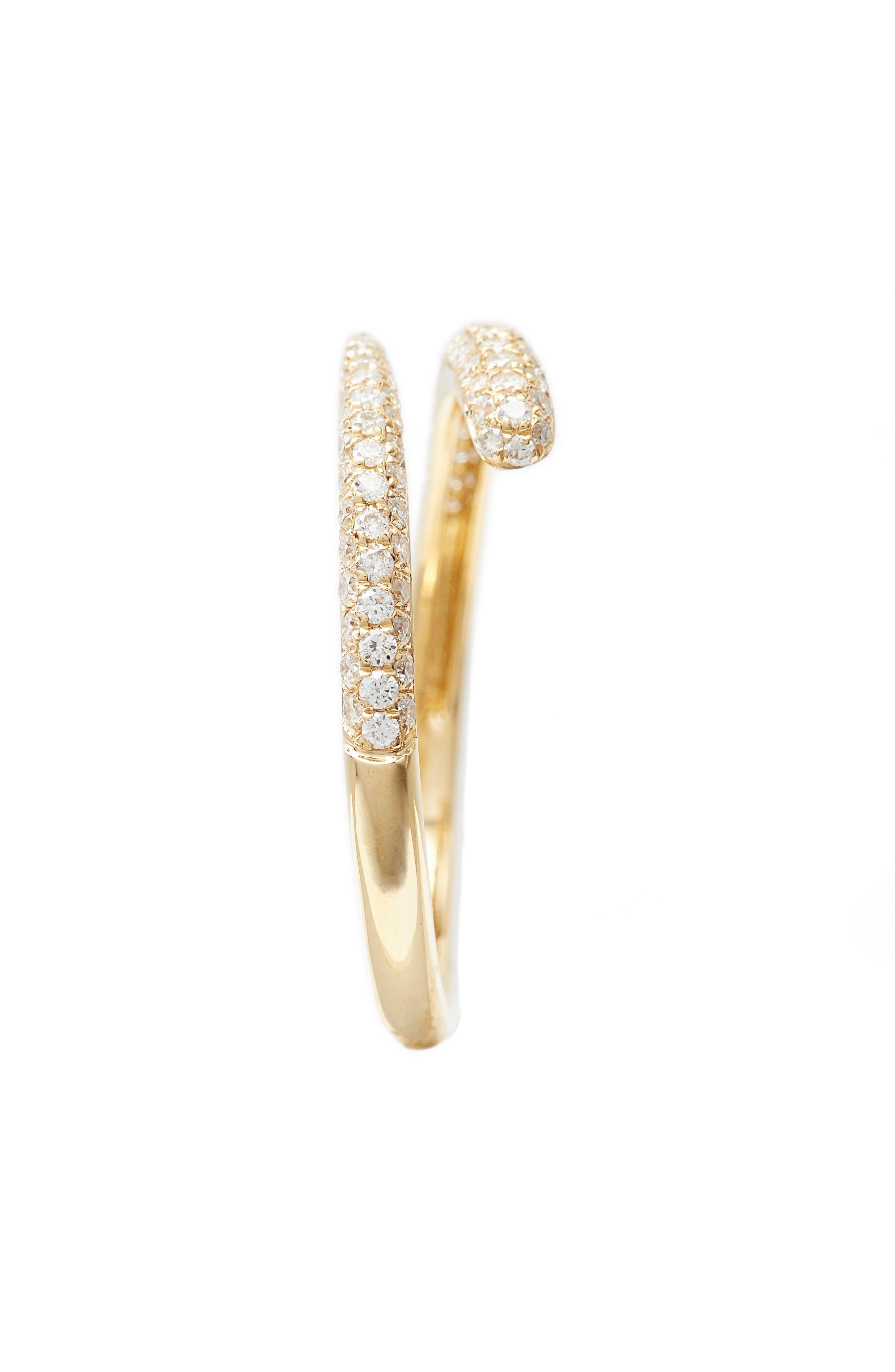 Micro Pavé Diamond Openwork Ring,                             Alternate thumbnail 2, color,                             Yellow Gold