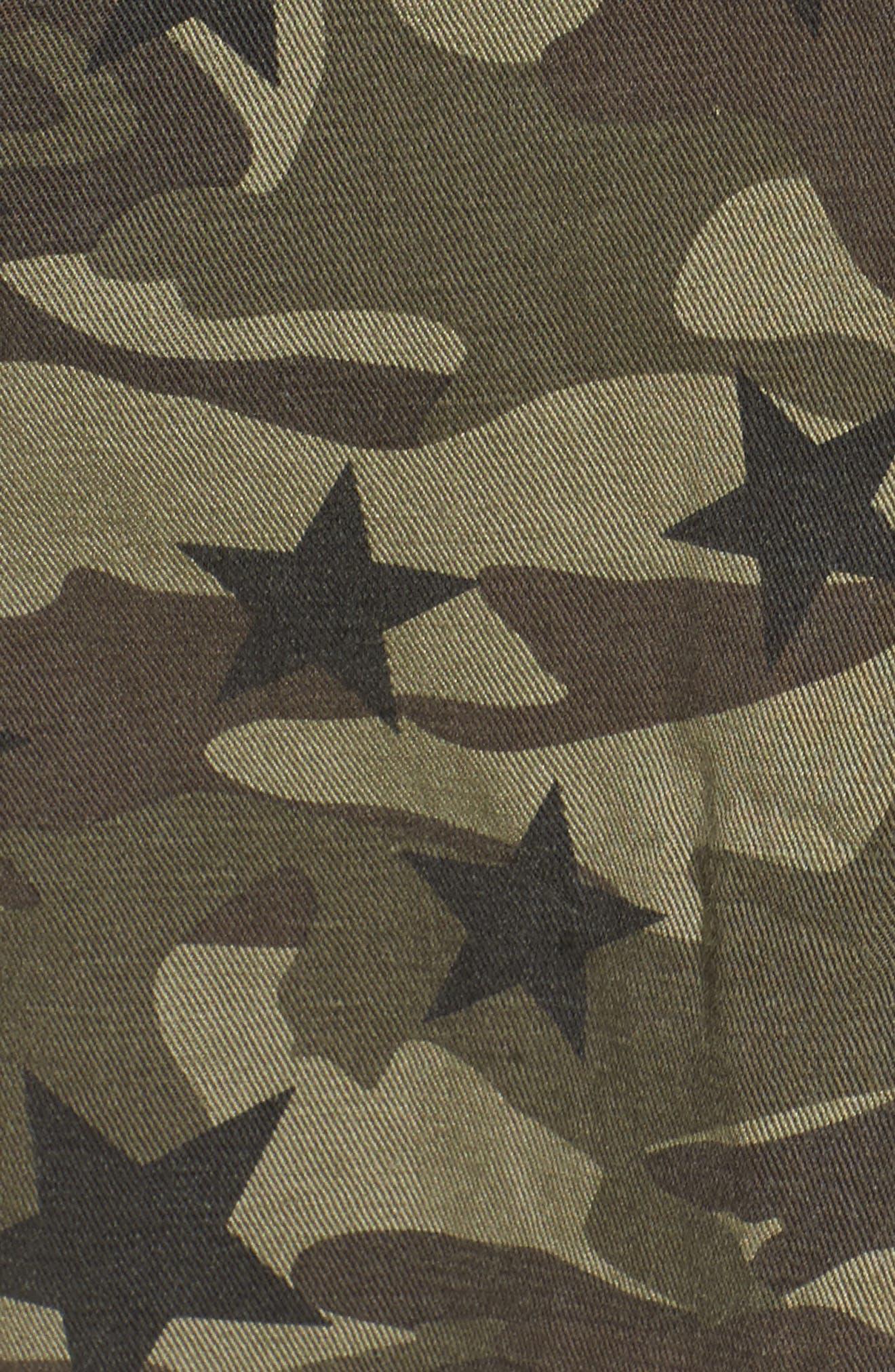 Hendrick Camo Military Jacket,                             Alternate thumbnail 5, color,                             Star Camo