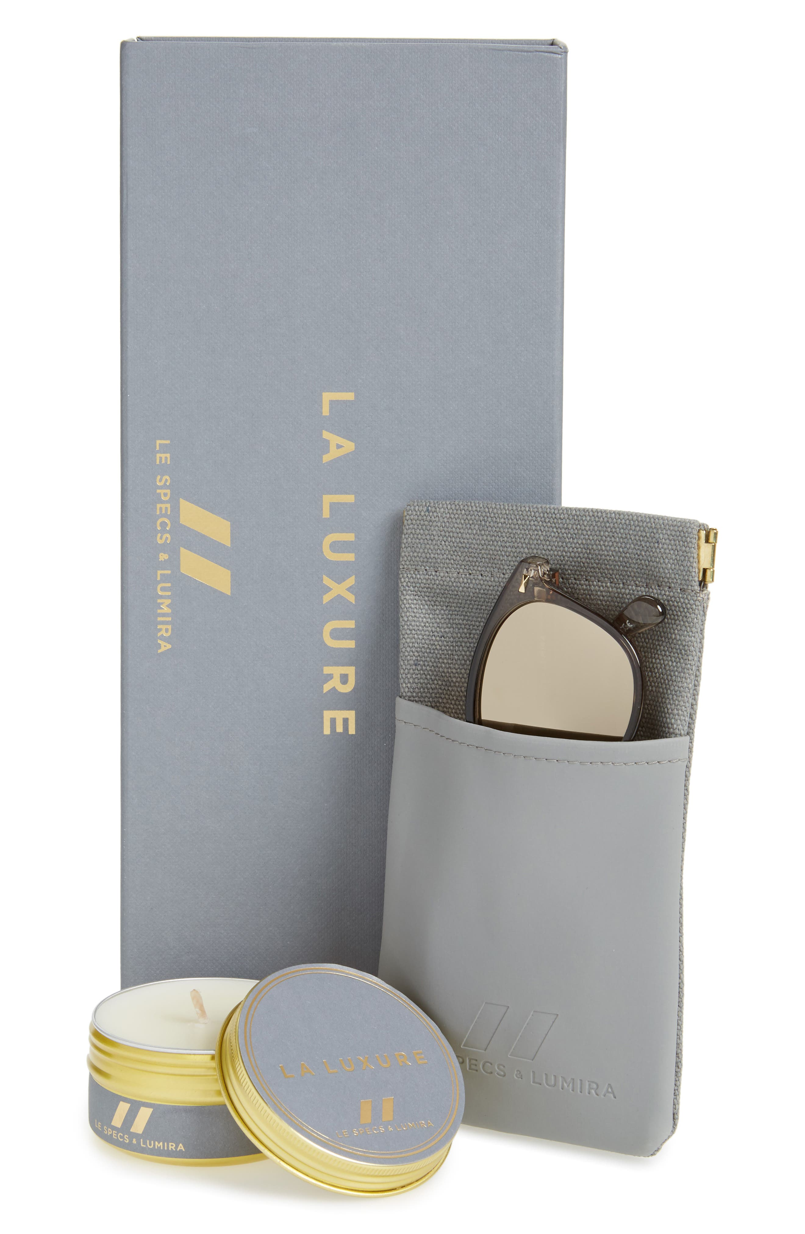 x Lumira Bandwagon 51mm Sunglasses & Candle Gift Set,                             Alternate thumbnail 2, color,                             Mist Copper