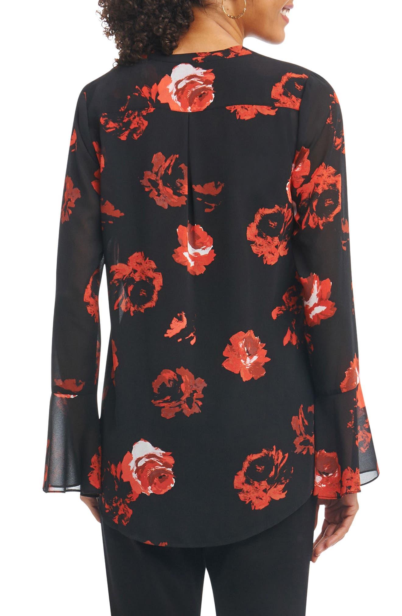 Alternate Image 2  - Foxcroft Ali in Rose Bell Sleeve Shirt