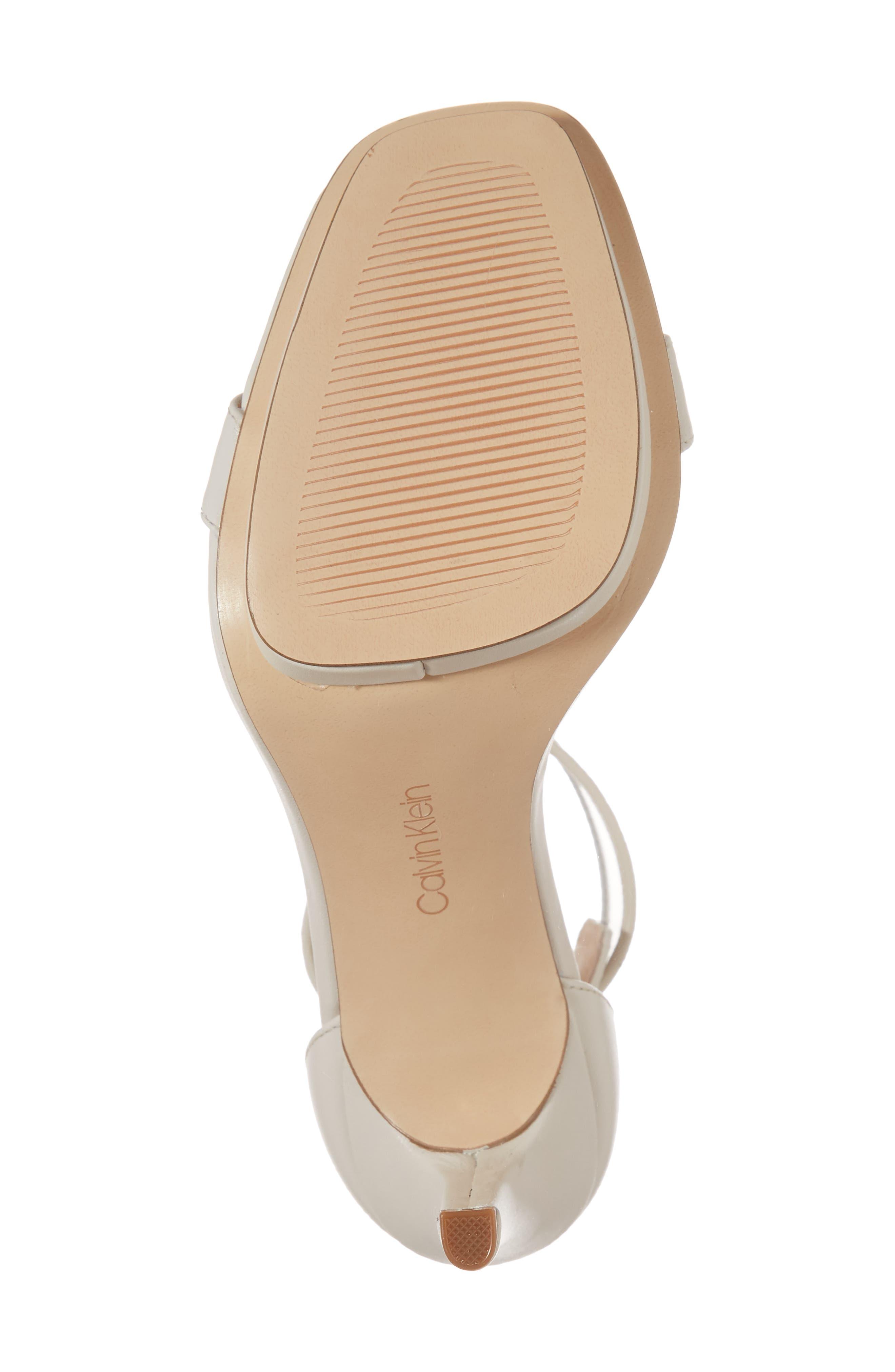 Vable Sandal,                             Alternate thumbnail 6, color,                             Soft White Leather