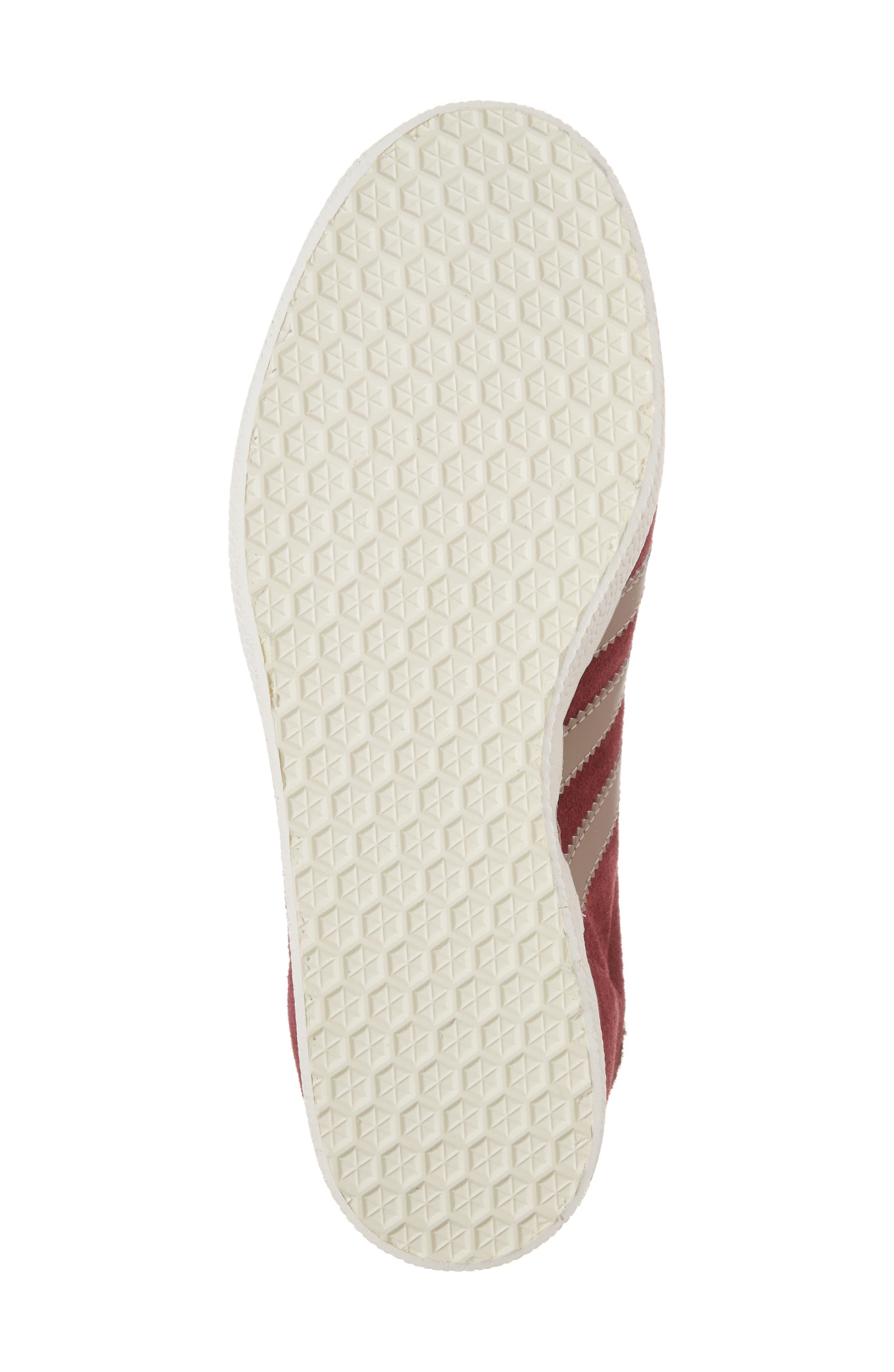 Gazelle Sneaker,                             Alternate thumbnail 6, color,                             Burgundy/ Vapour Grey/ White