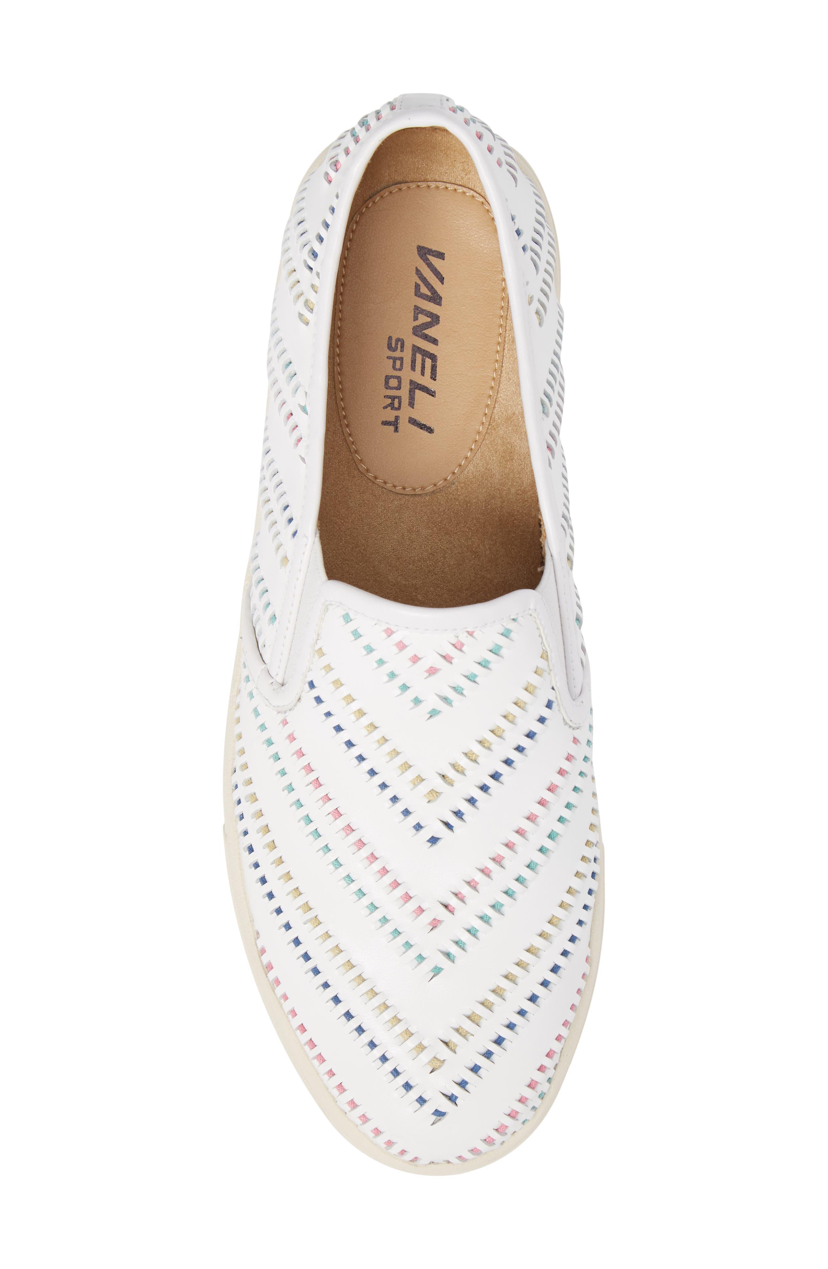 Ocean Slip-On Sneaker,                             Alternate thumbnail 5, color,                             White Leather