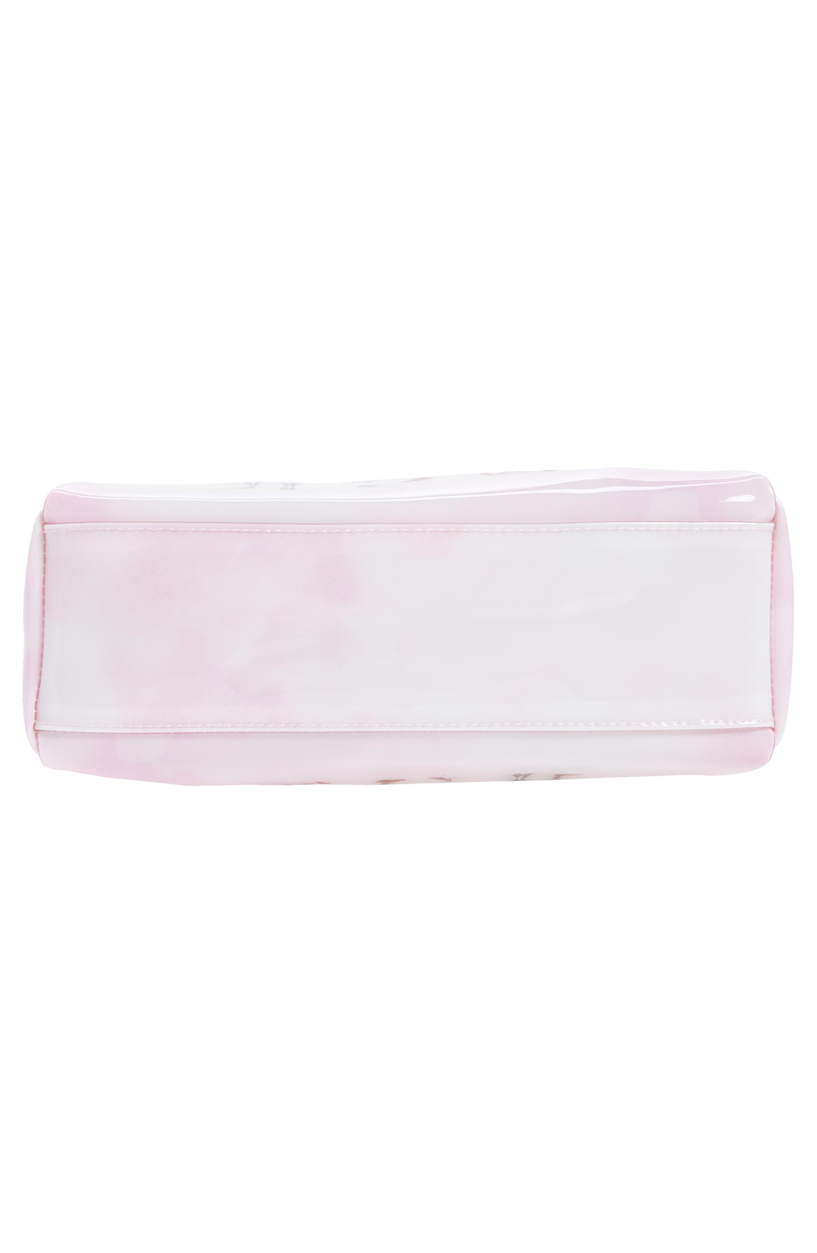 Watercolor Women Large Cosmetics Case,                             Alternate thumbnail 5, color,                             Pink