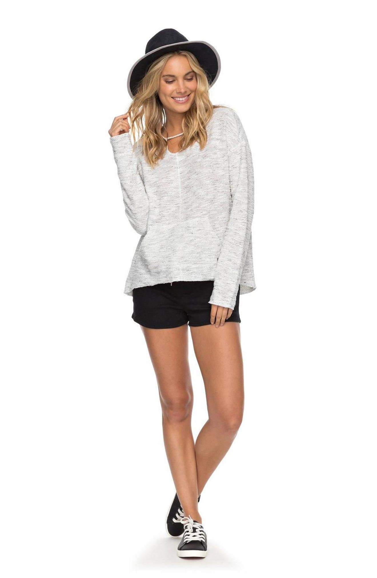 Crazy Waves Keyhole Hoodie,                             Alternate thumbnail 3, color,                             Marshmallow
