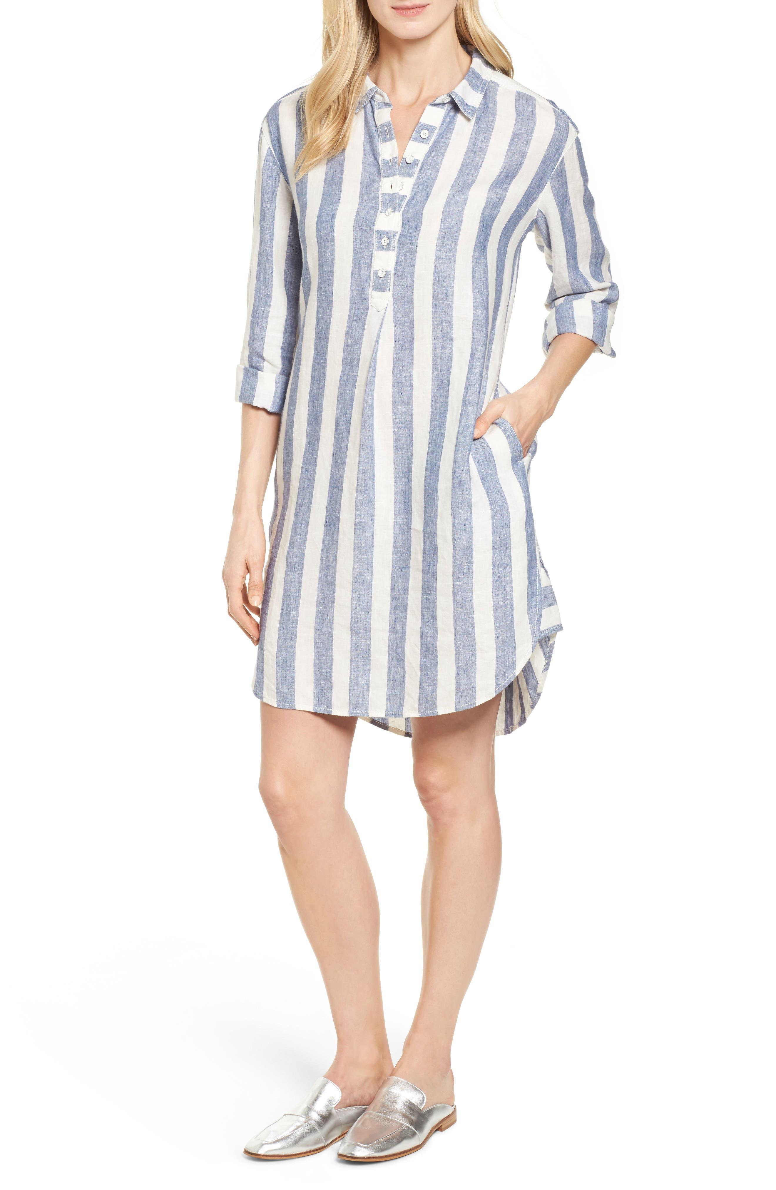 Caslon® Linen Shirt Dress