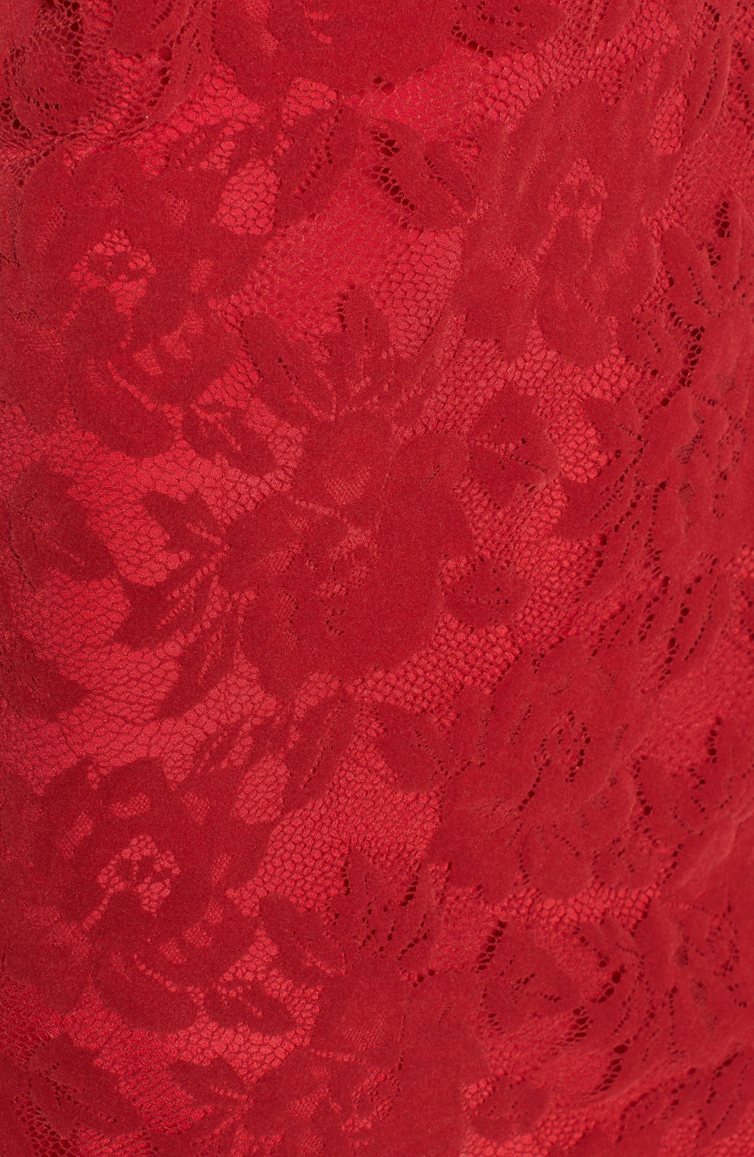 Caspian Lace Sheath Dress,                             Alternate thumbnail 5, color,                             Bordeaux