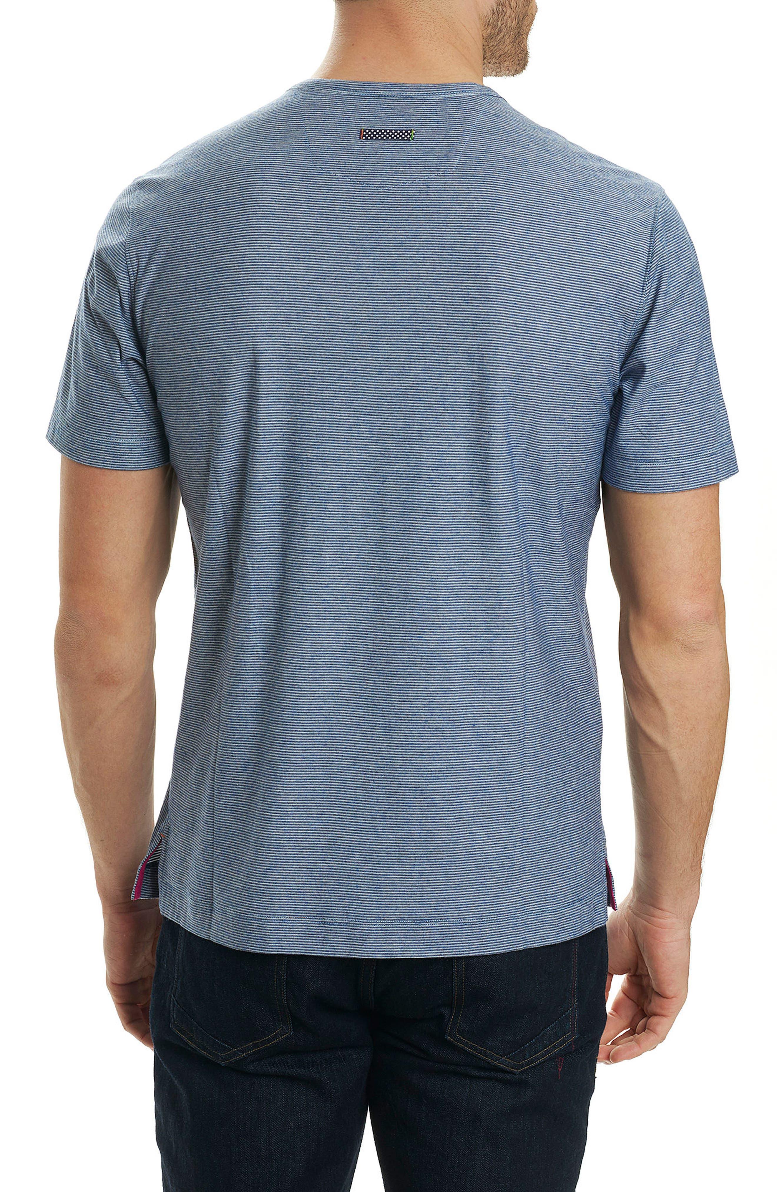 Orchidlands Stripe T-Shirt,                             Alternate thumbnail 2, color,                             Heather Navy
