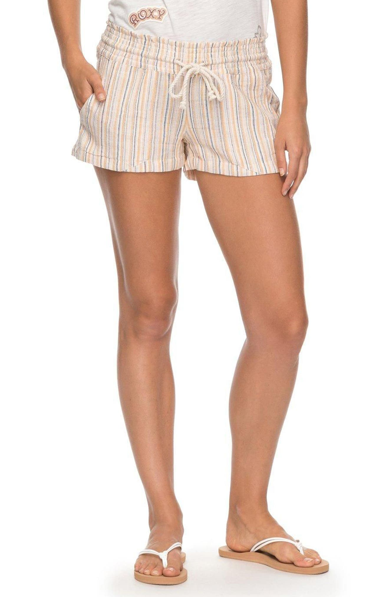 Oceanside Yarn-Dyed Shorts,                             Main thumbnail 1, color,                             Oak Buff