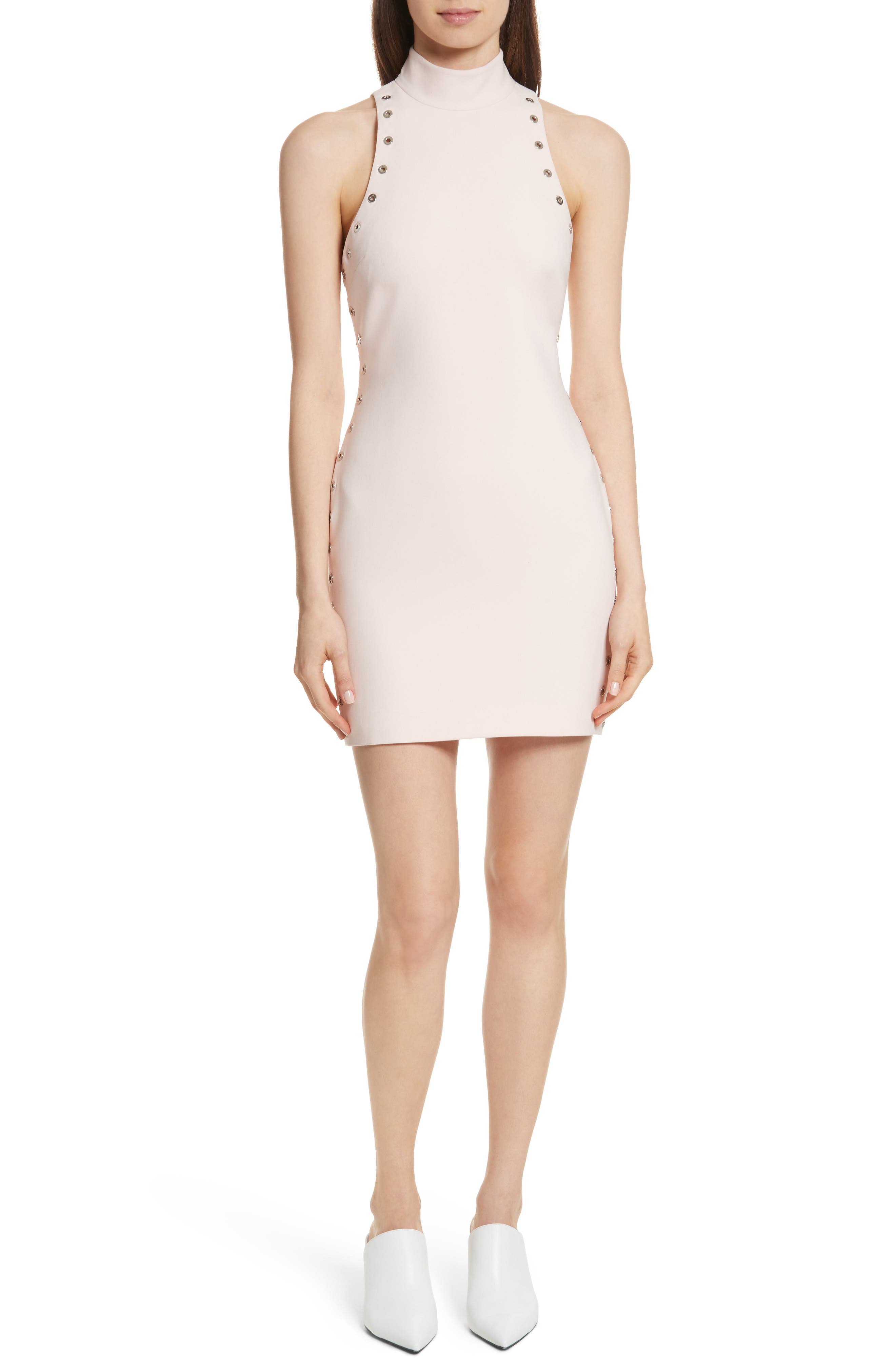 Ava Grommet Minidress,                         Main,                         color, Pearl Blush