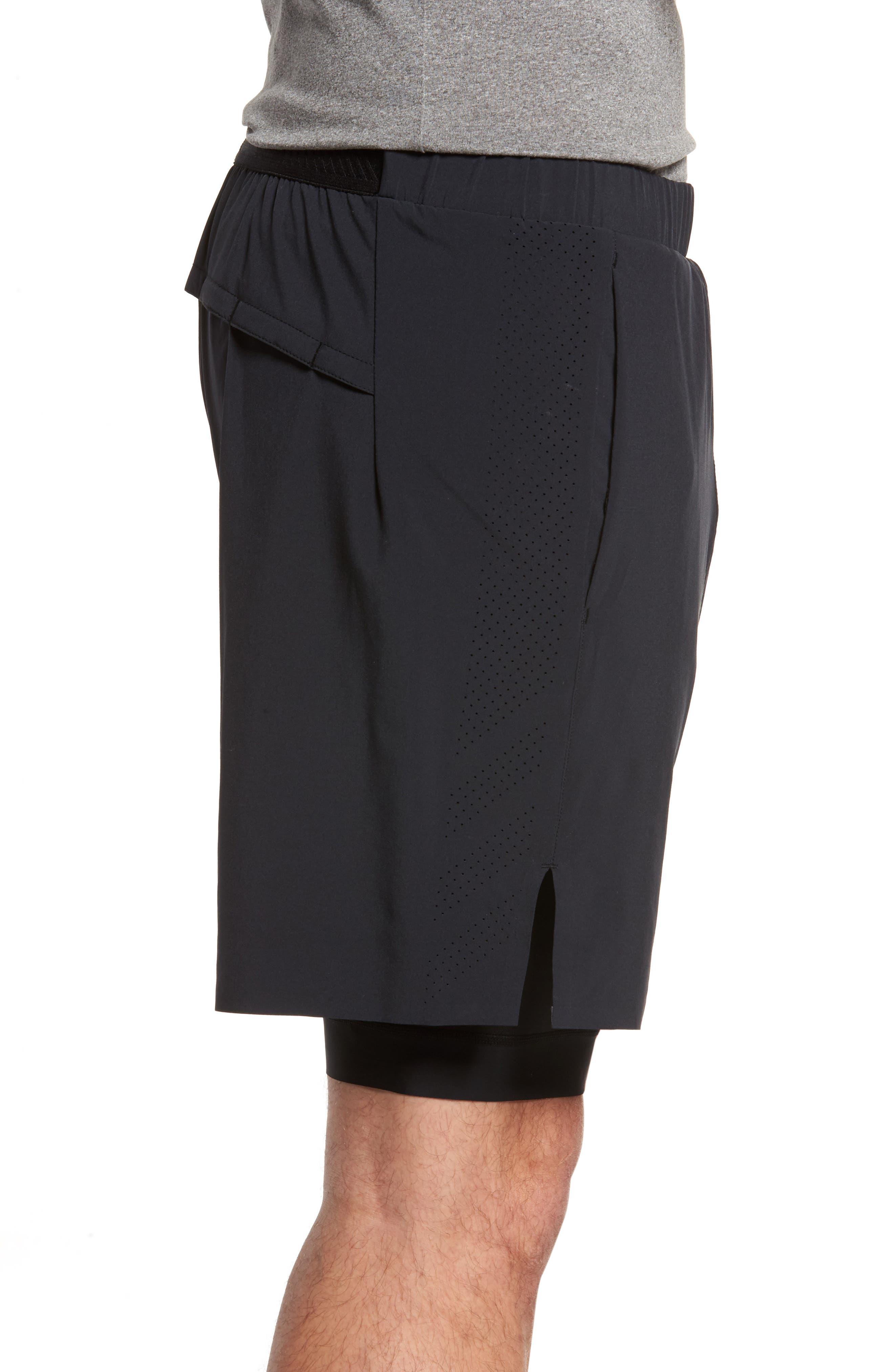 Interval 2-in-1 Shorts,                             Alternate thumbnail 3, color,                             Black
