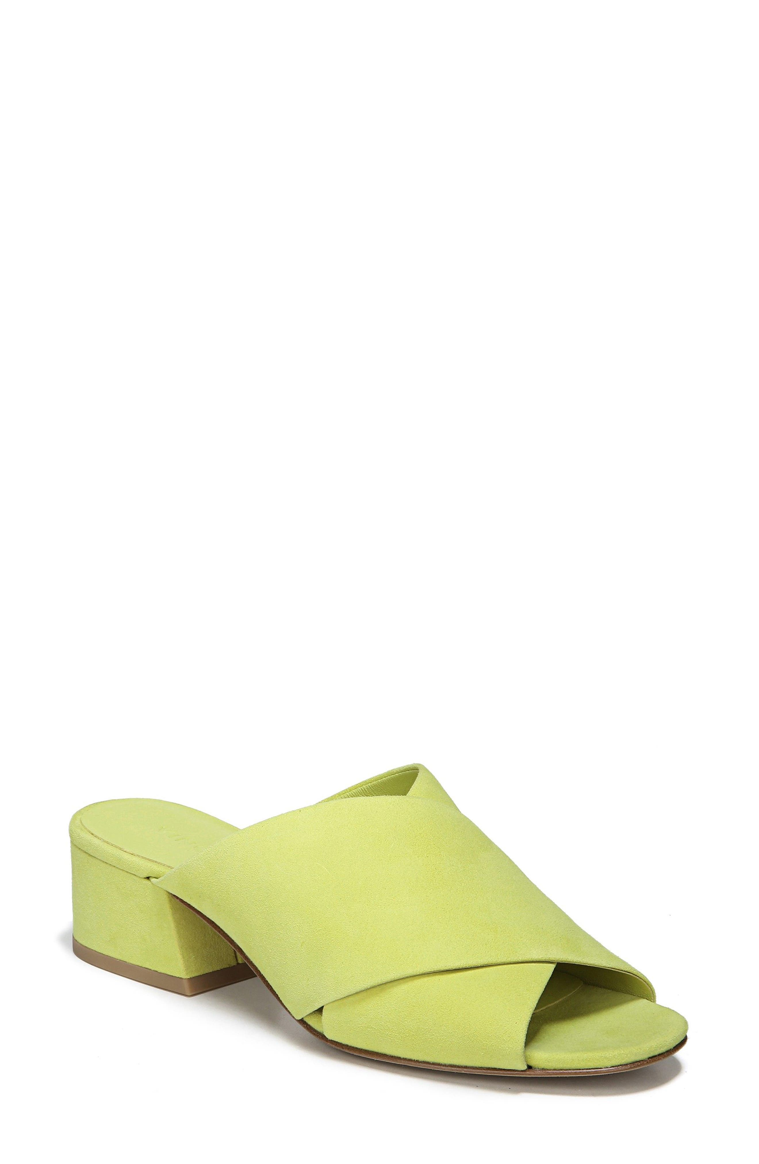 Vince Women's Karsen Suede Block Heel Slide Sandals
