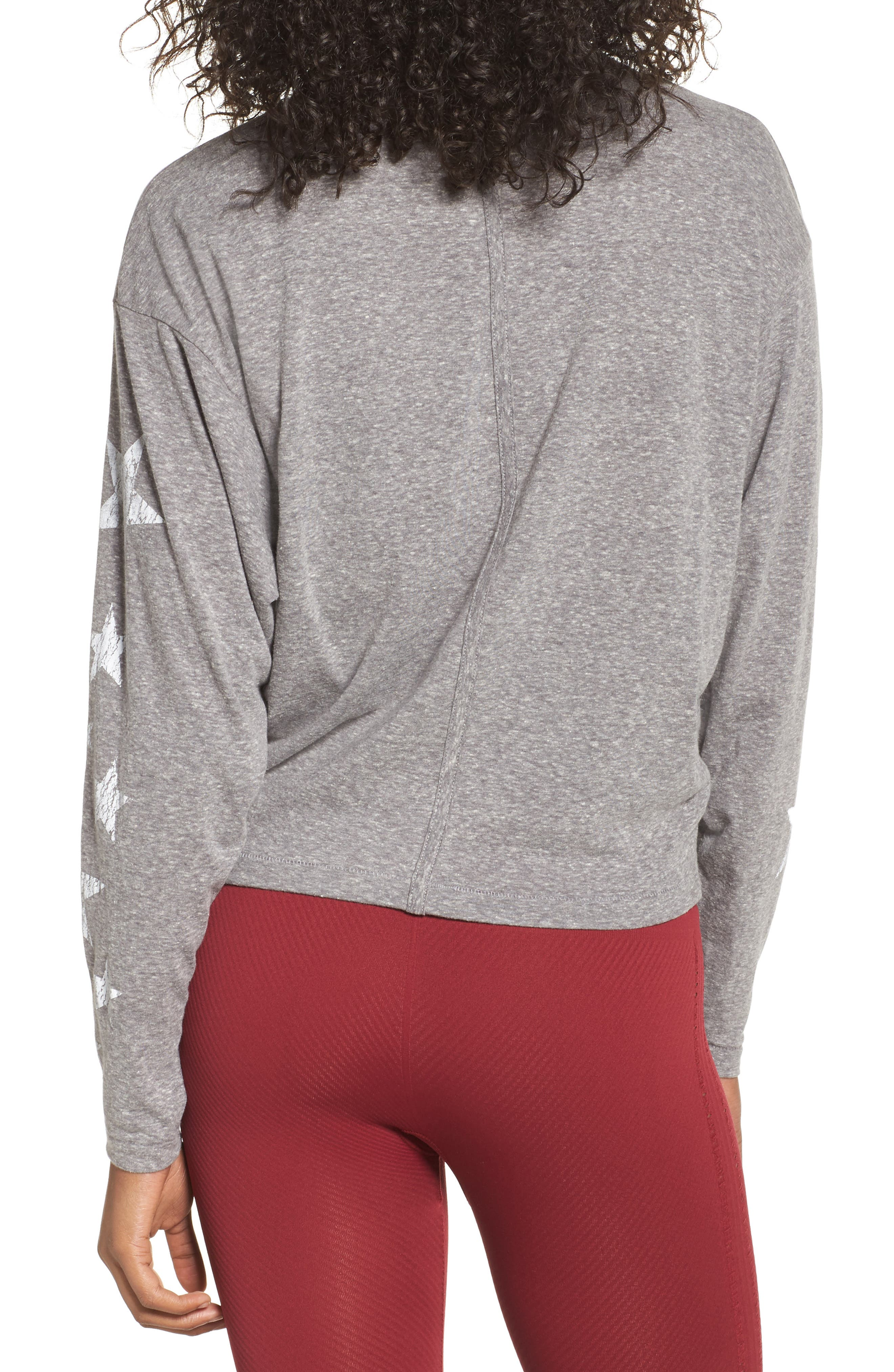 Free People Melrose Star Graphic Top,                             Alternate thumbnail 3, color,                             Grey