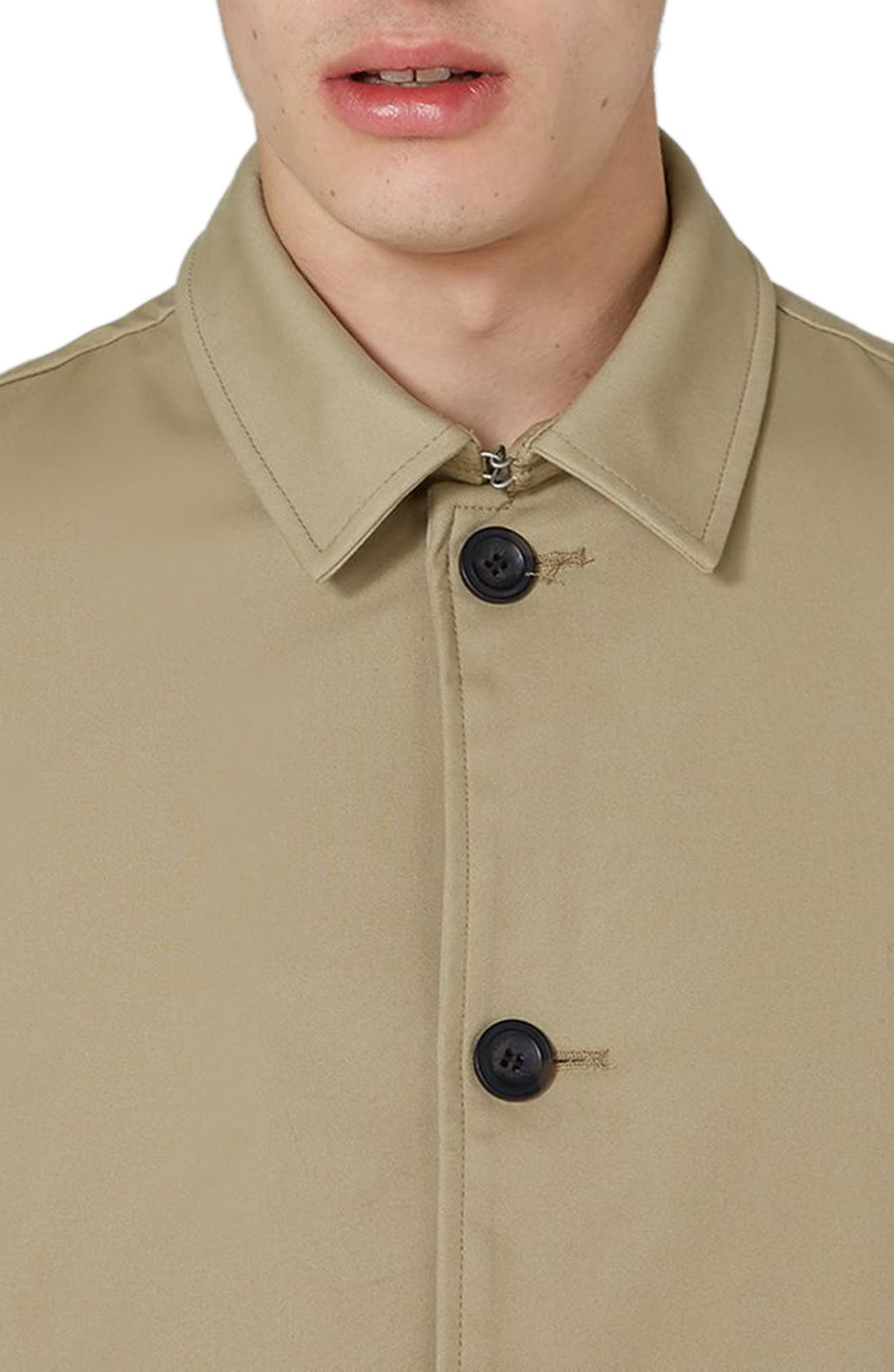 Alternate Image 3  - Topman Mac Single Breasted Topcoat