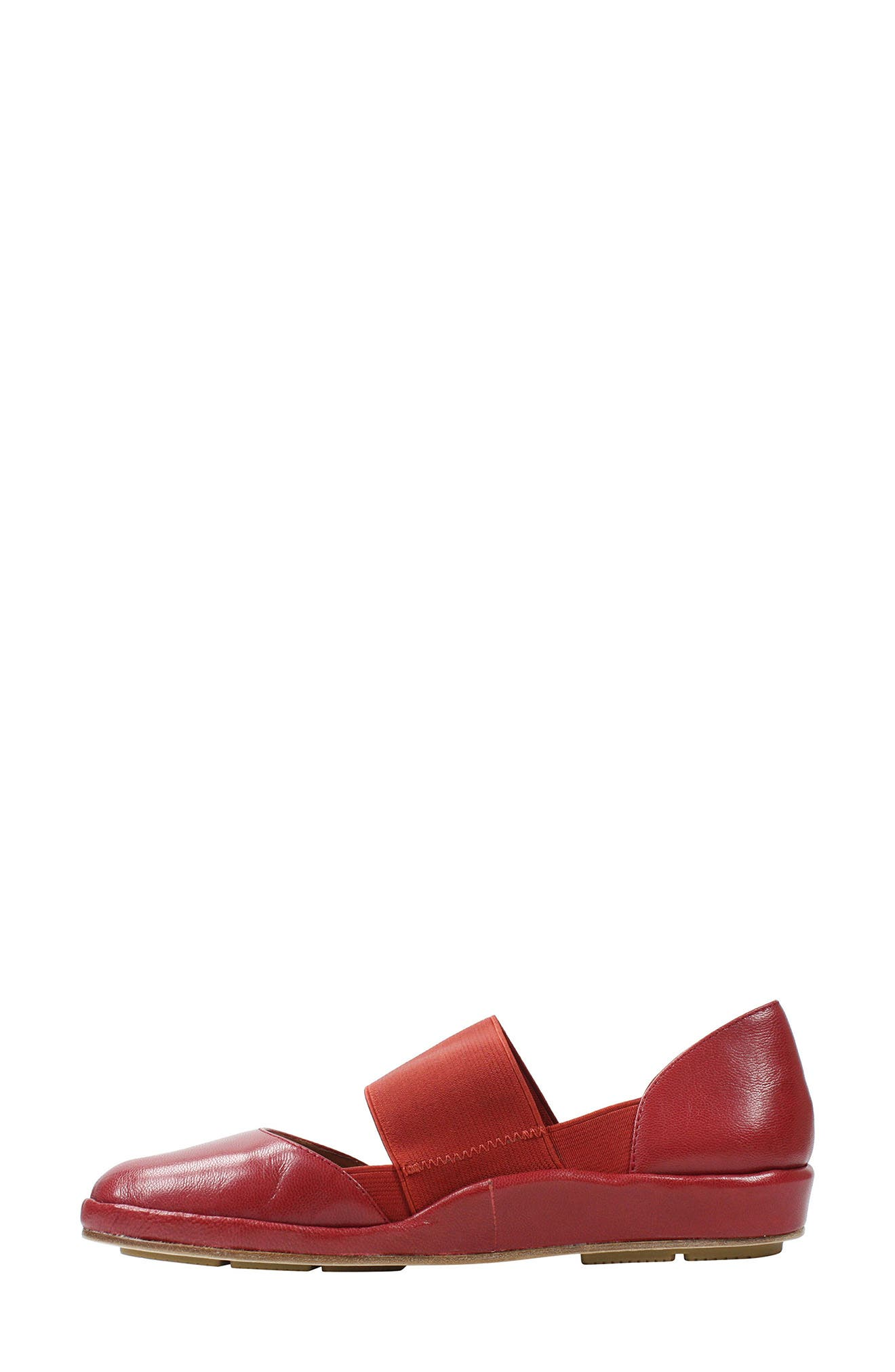 Camile Wedge Pump,                             Alternate thumbnail 4, color,                             Claret Leather