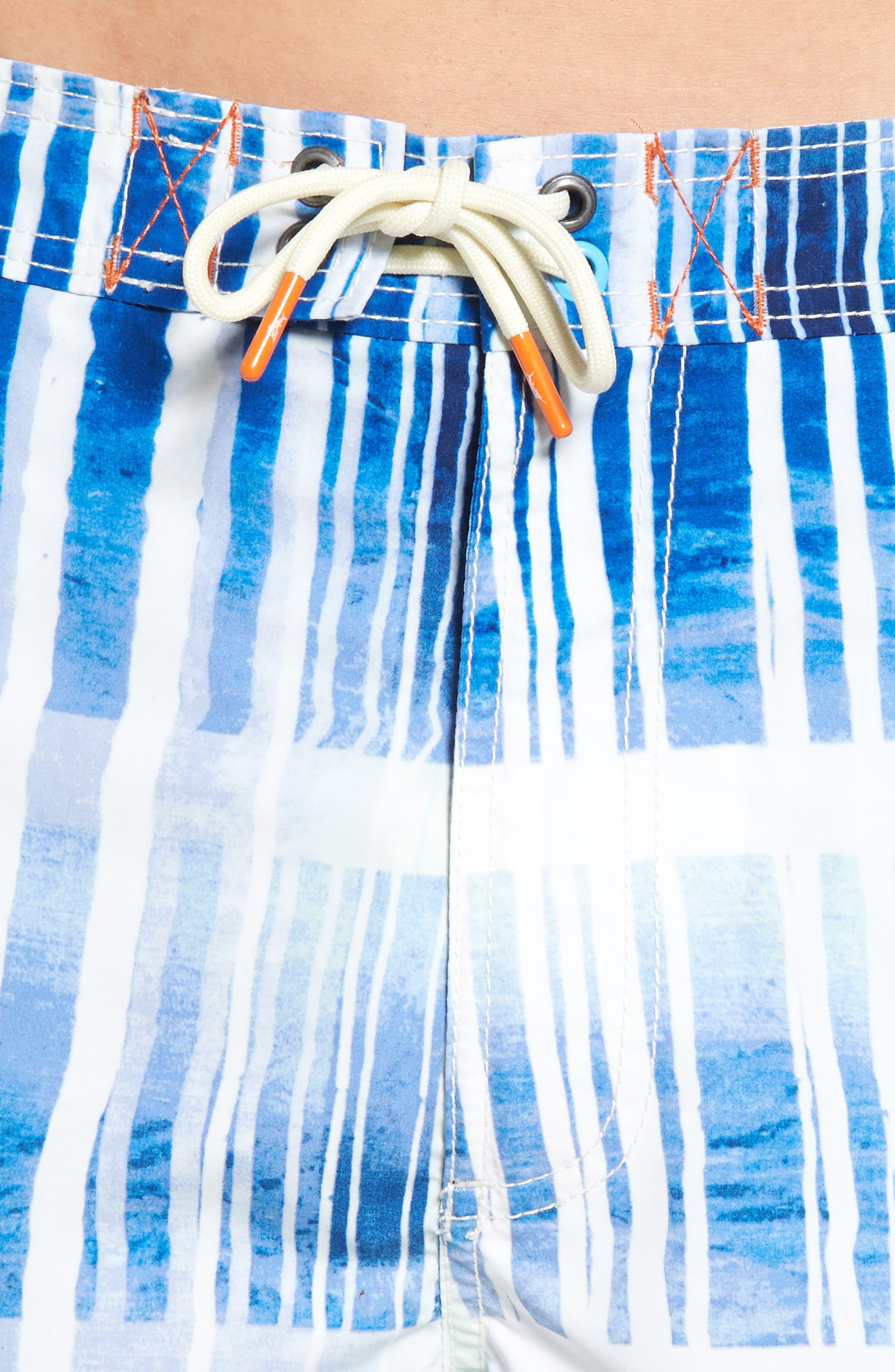 Baja Okeechobee Board Shorts,                             Alternate thumbnail 4, color,                             Santorini Blue