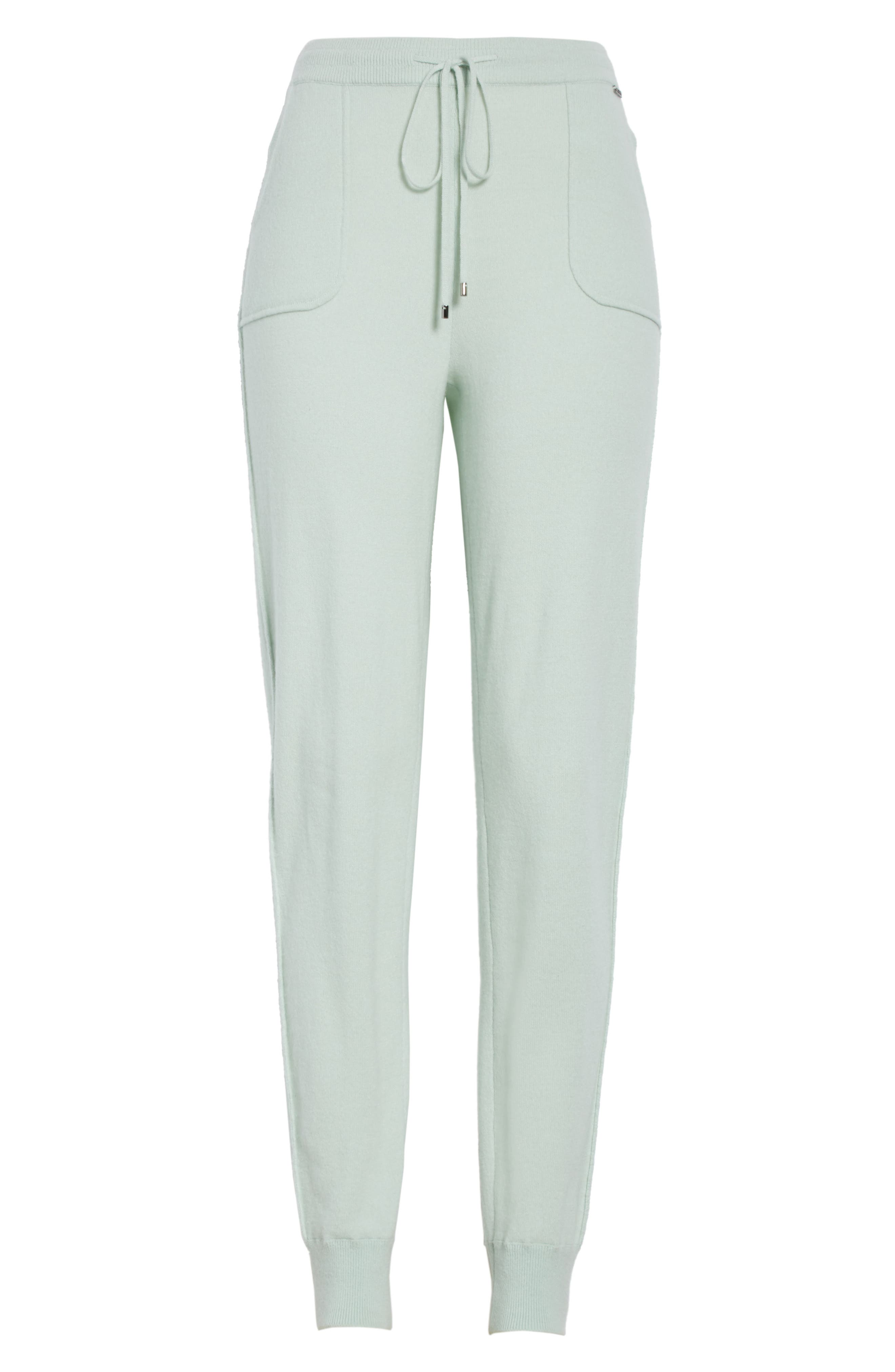 Cashmere Jersey Sweatpants,                             Alternate thumbnail 7, color,                             Mint