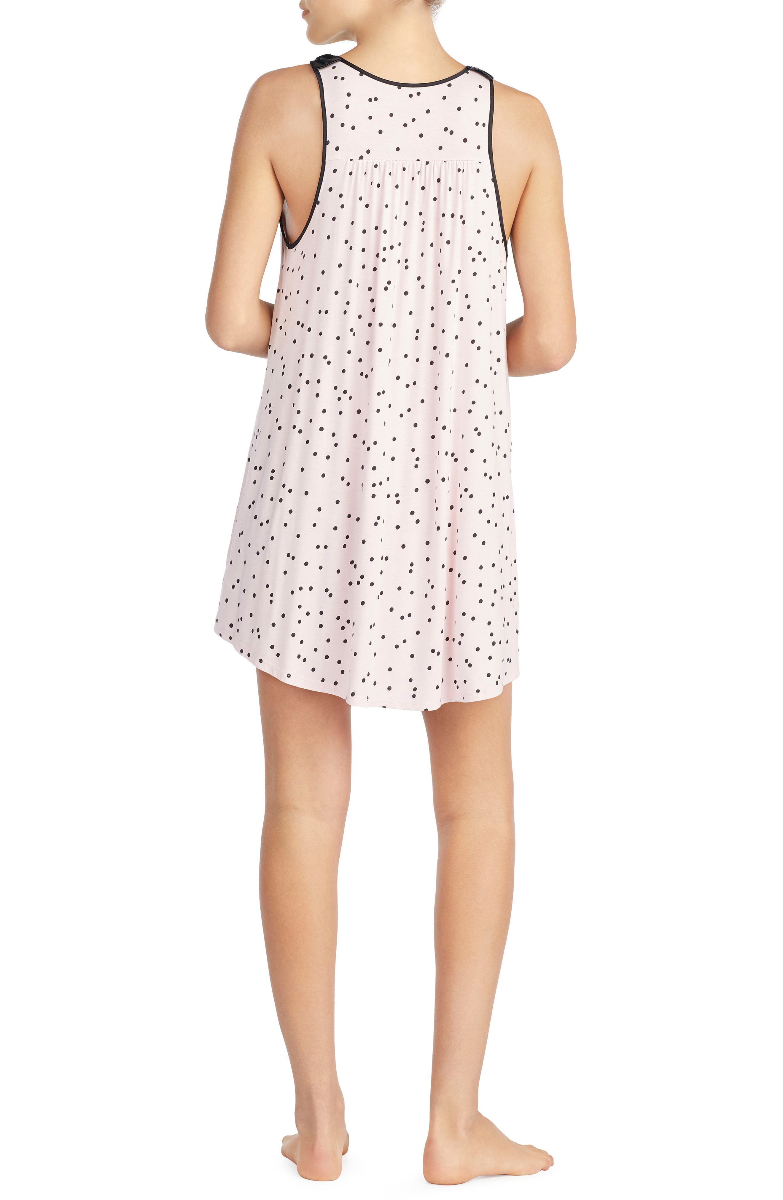 jersey chemise,                             Alternate thumbnail 2, color,                             Scattered Dot Pink