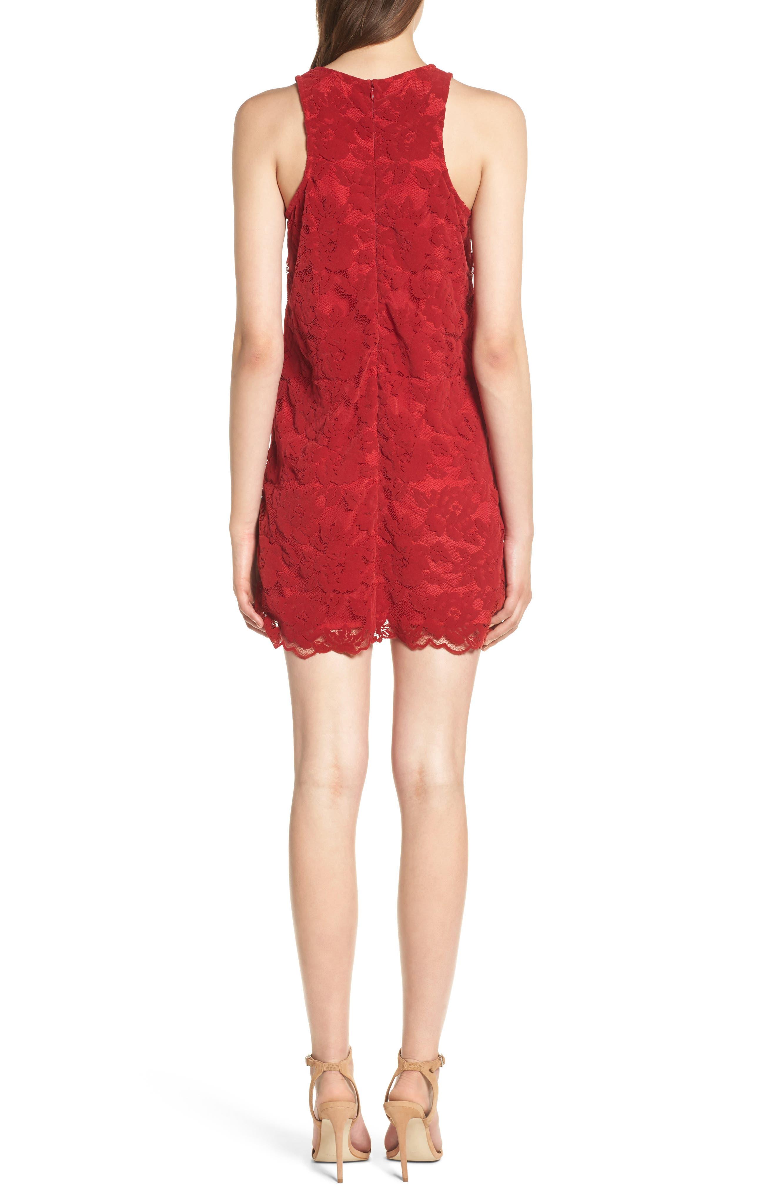 Caspian Lace Sheath Dress,                             Alternate thumbnail 2, color,                             Bordeaux