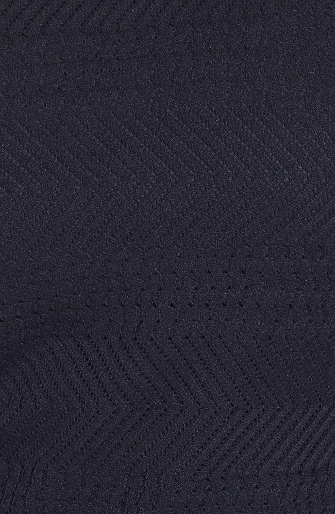 Solid Herringbone Knit Dress,                             Alternate thumbnail 5, color,                             Navy