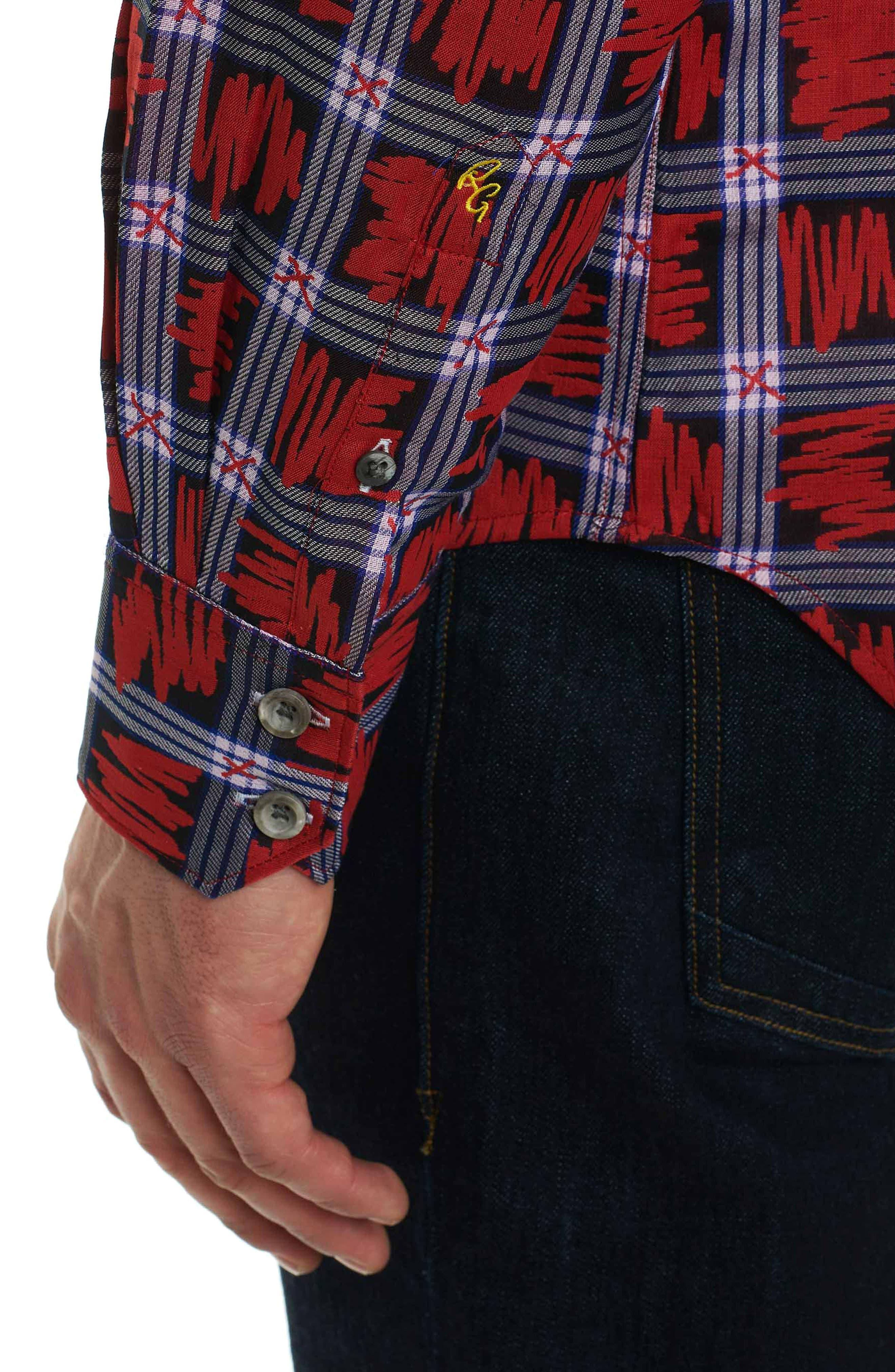 Nassau Classic Fit Sport Shirt,                             Alternate thumbnail 6, color,                             Red