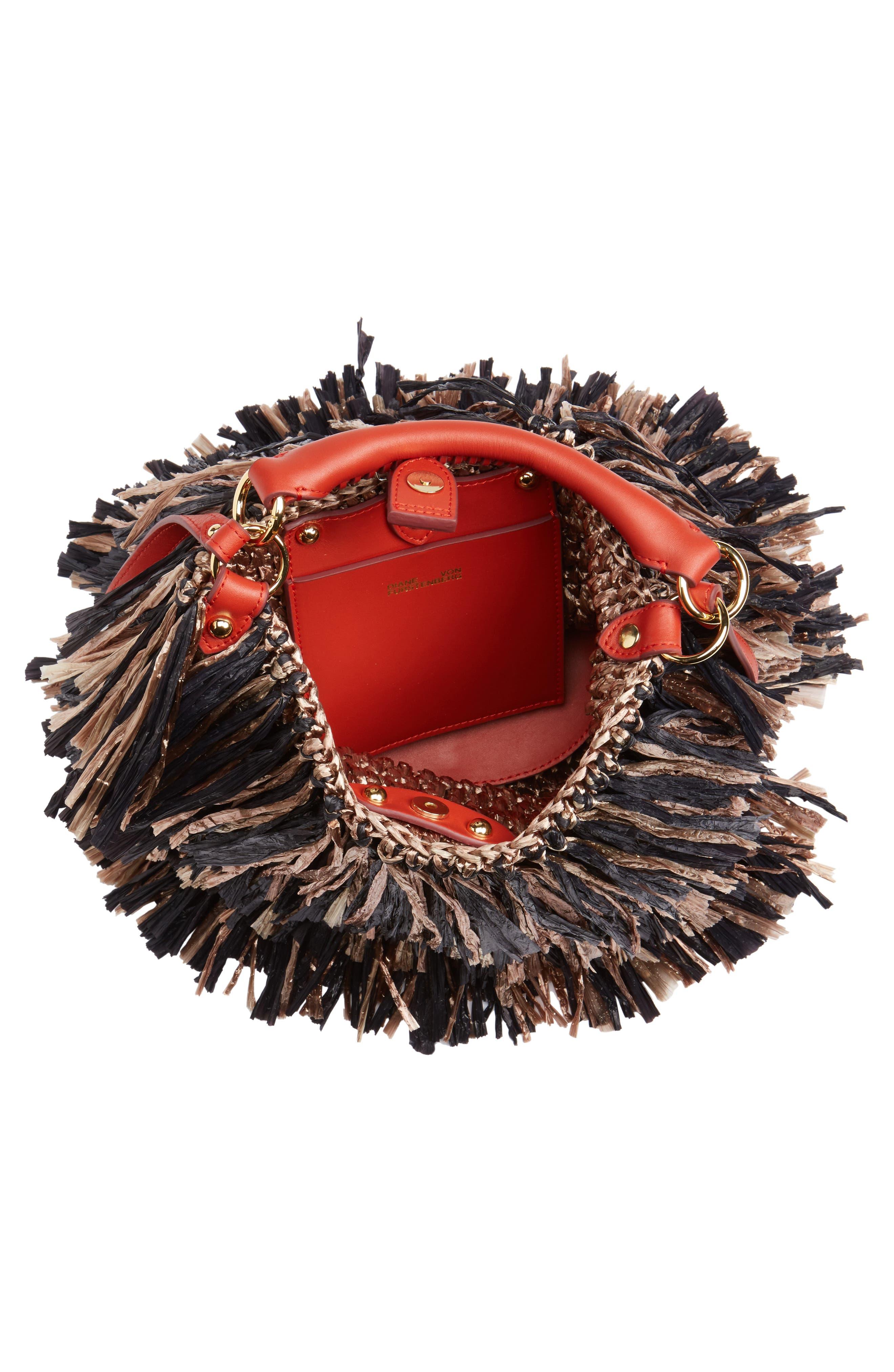 Alternate Image 5  - Diane von Furstenberg Raffia Fringe Bucket Bag