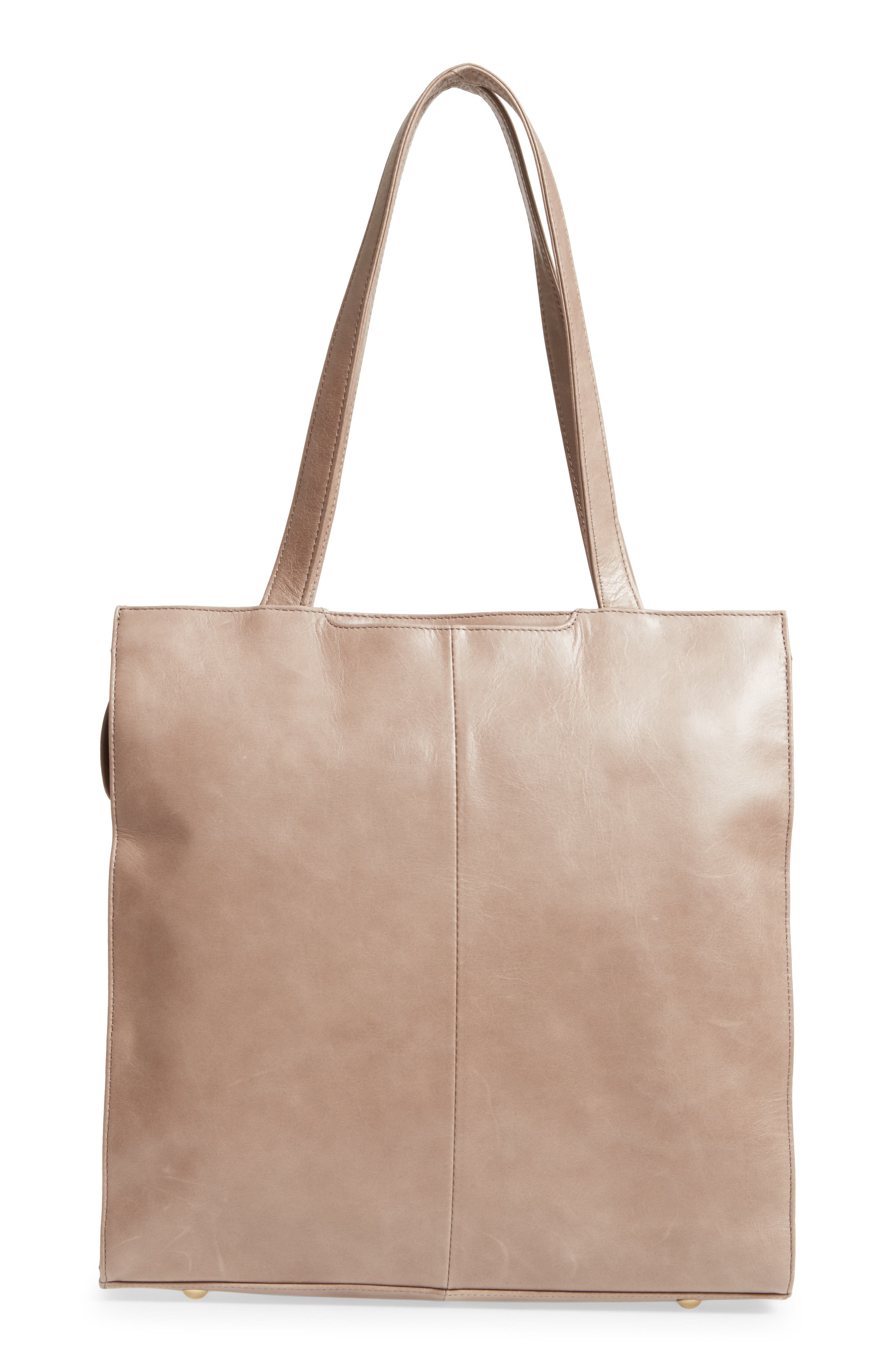 Avalon Studded Calfskin Leather Tote,                             Alternate thumbnail 2, color,                             Ash