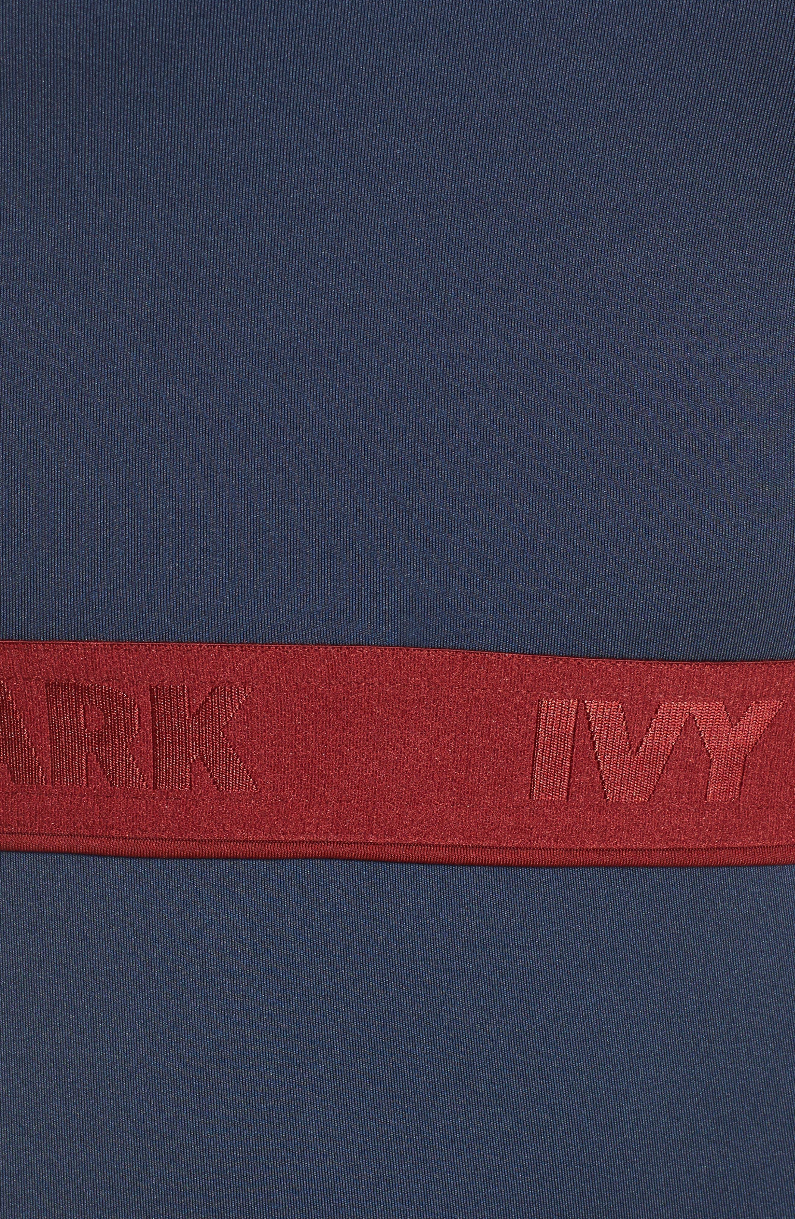 Alternate Image 5  - IVY PARK® Colorblock Mesh Inset Bodysuit