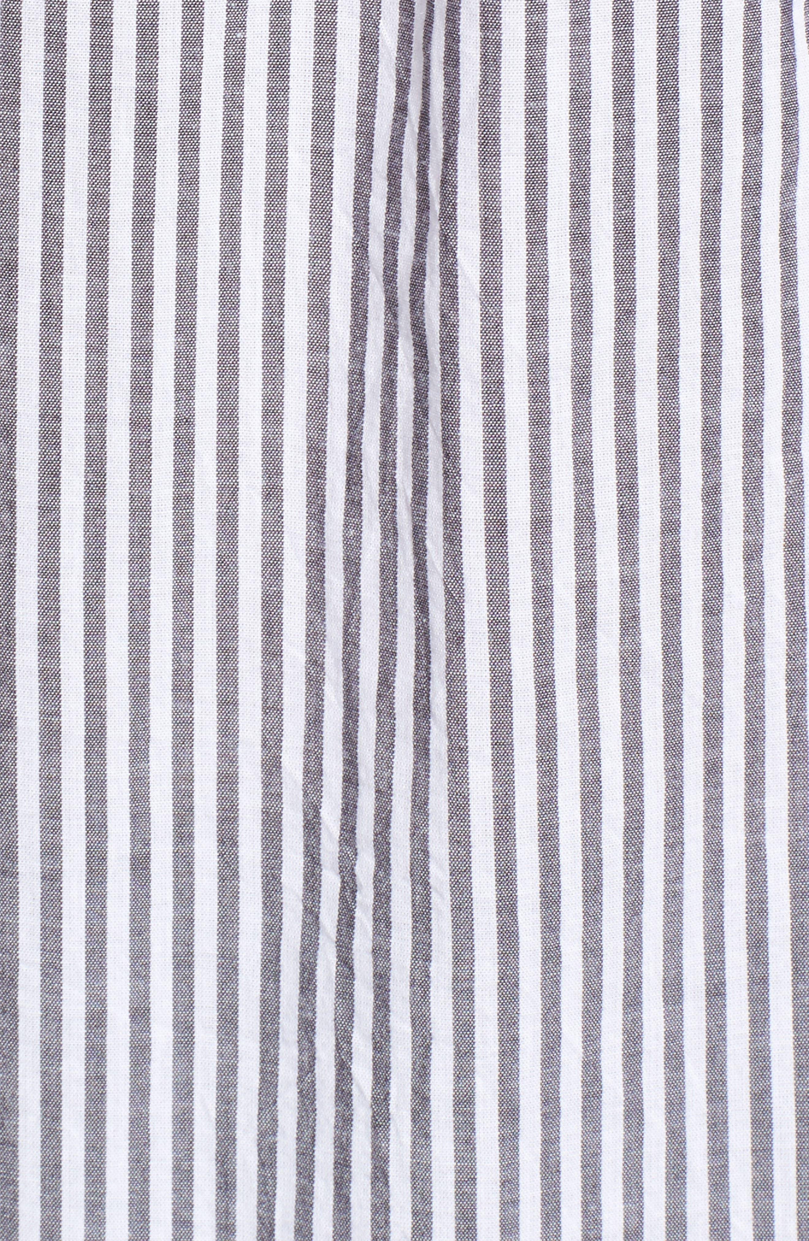 Taylor Embellished Shirt,                             Alternate thumbnail 5, color,                             Florence Stripe Studded Pearls