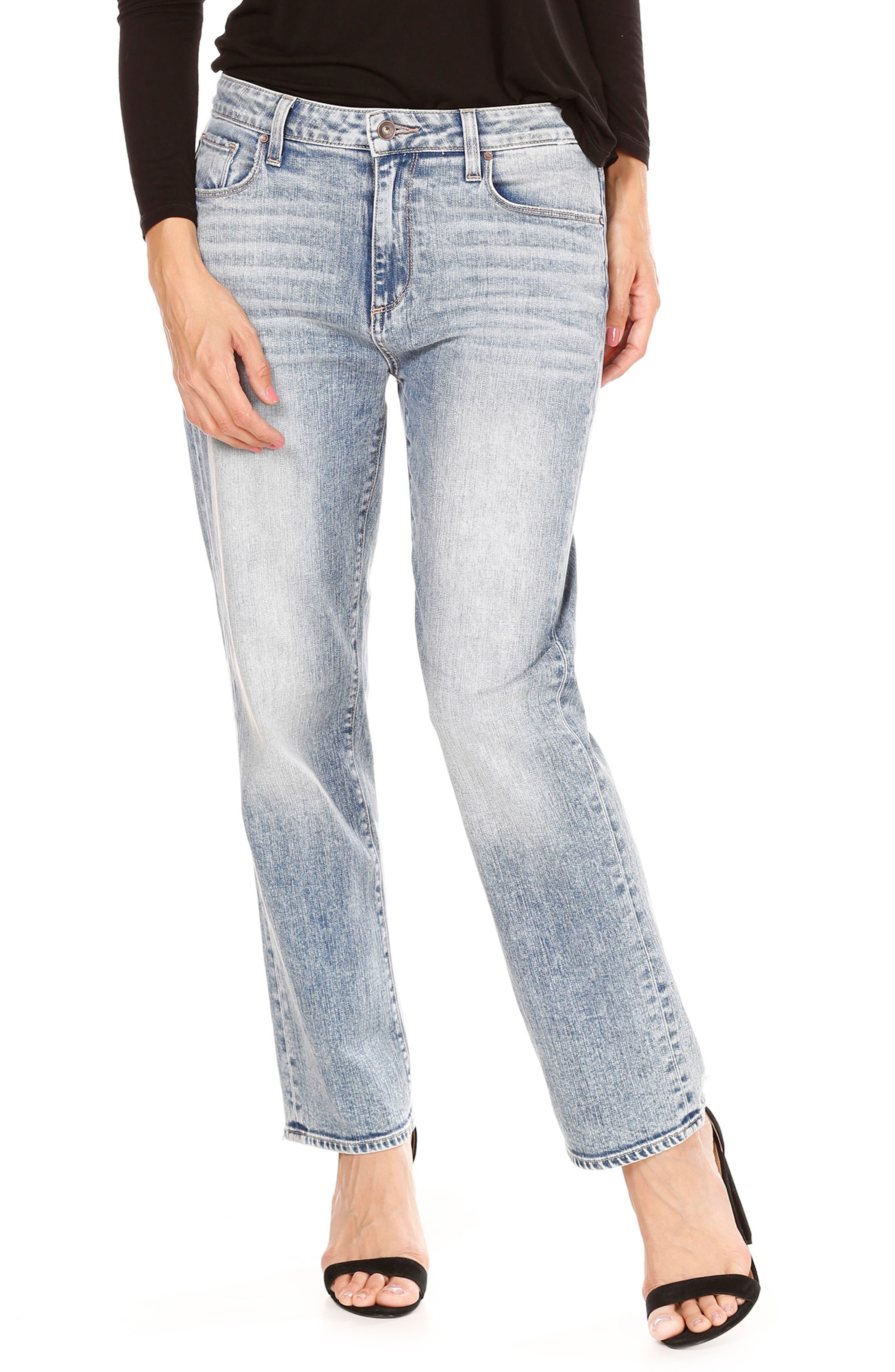 Main Image - PAIGE Noella High Waist Straight Leg Jeans (Jaylene)