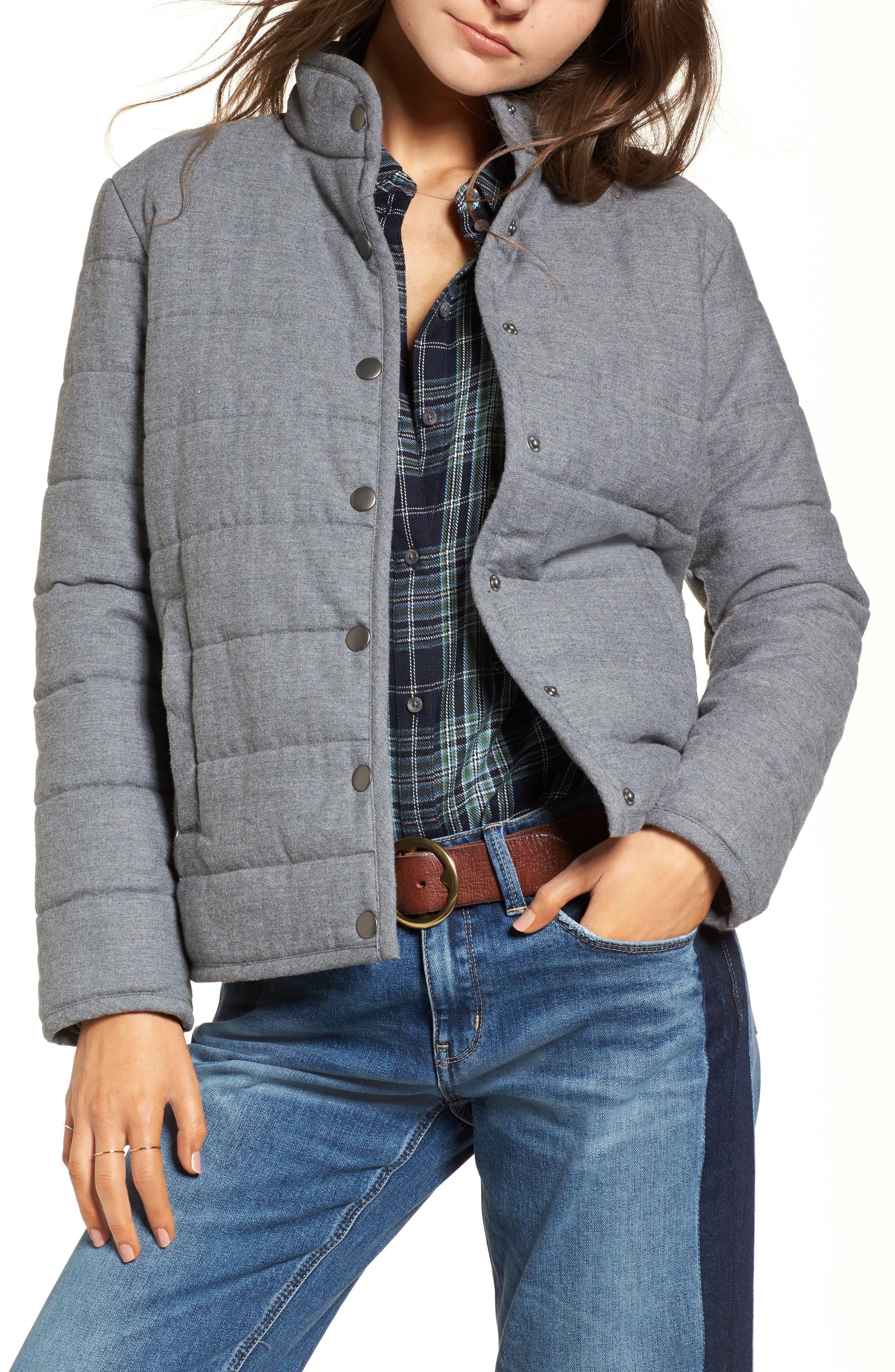 Treasure & Bond Flannel Puffer Jacket