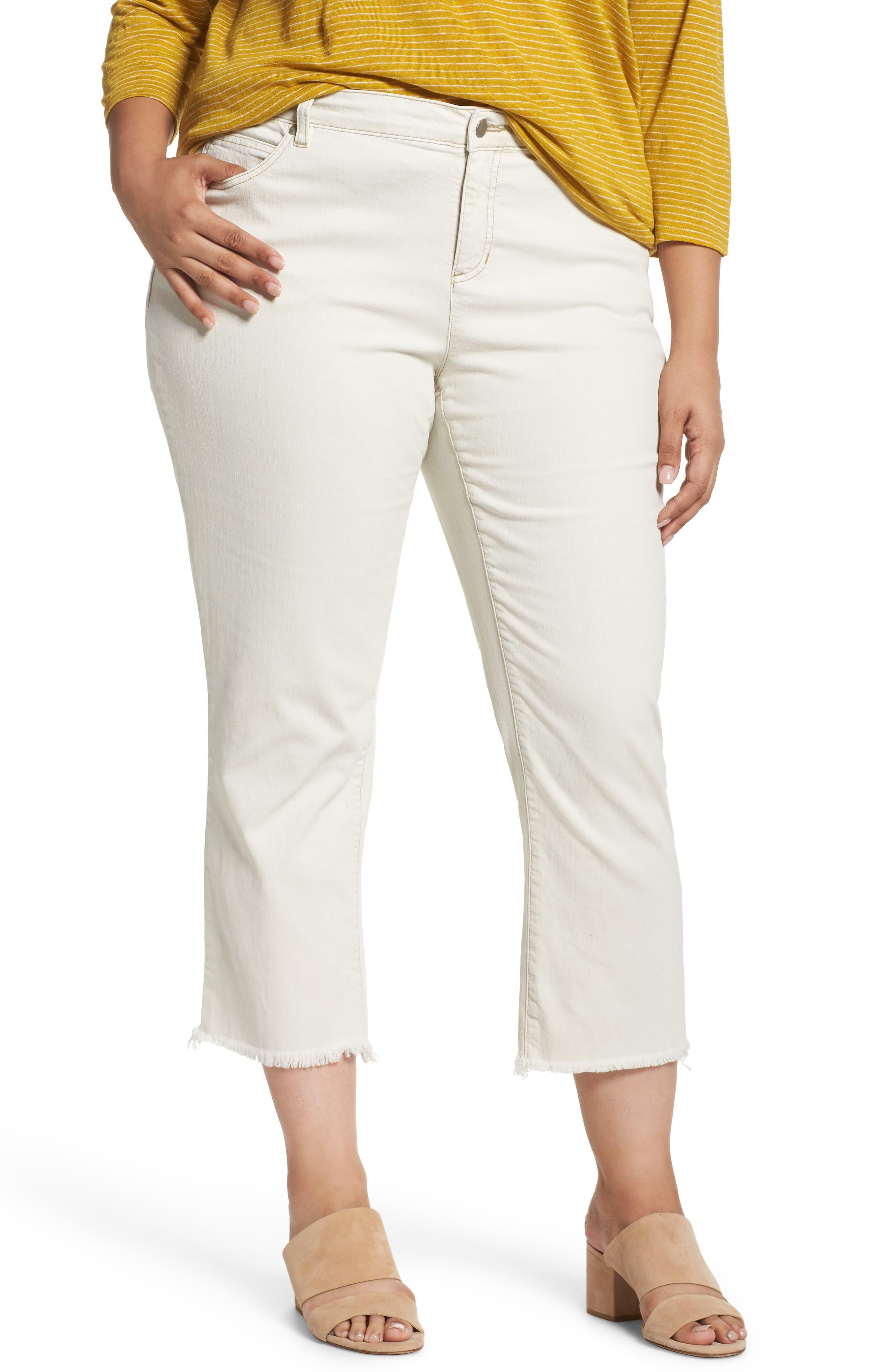 Stretch Organic Denim Crop Jeans,                         Main,                         color, Undyed Natural