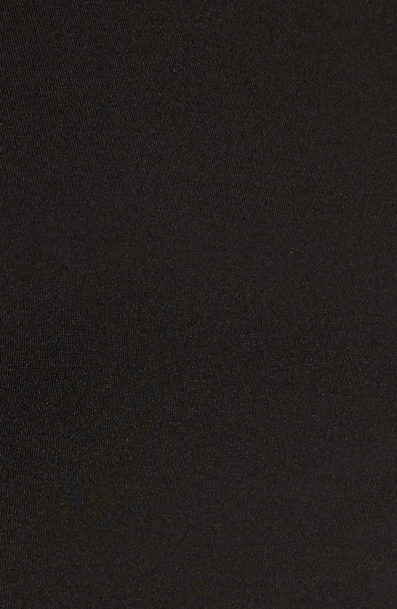 Big Bow Peplum Top,                             Alternate thumbnail 6, color,                             Black