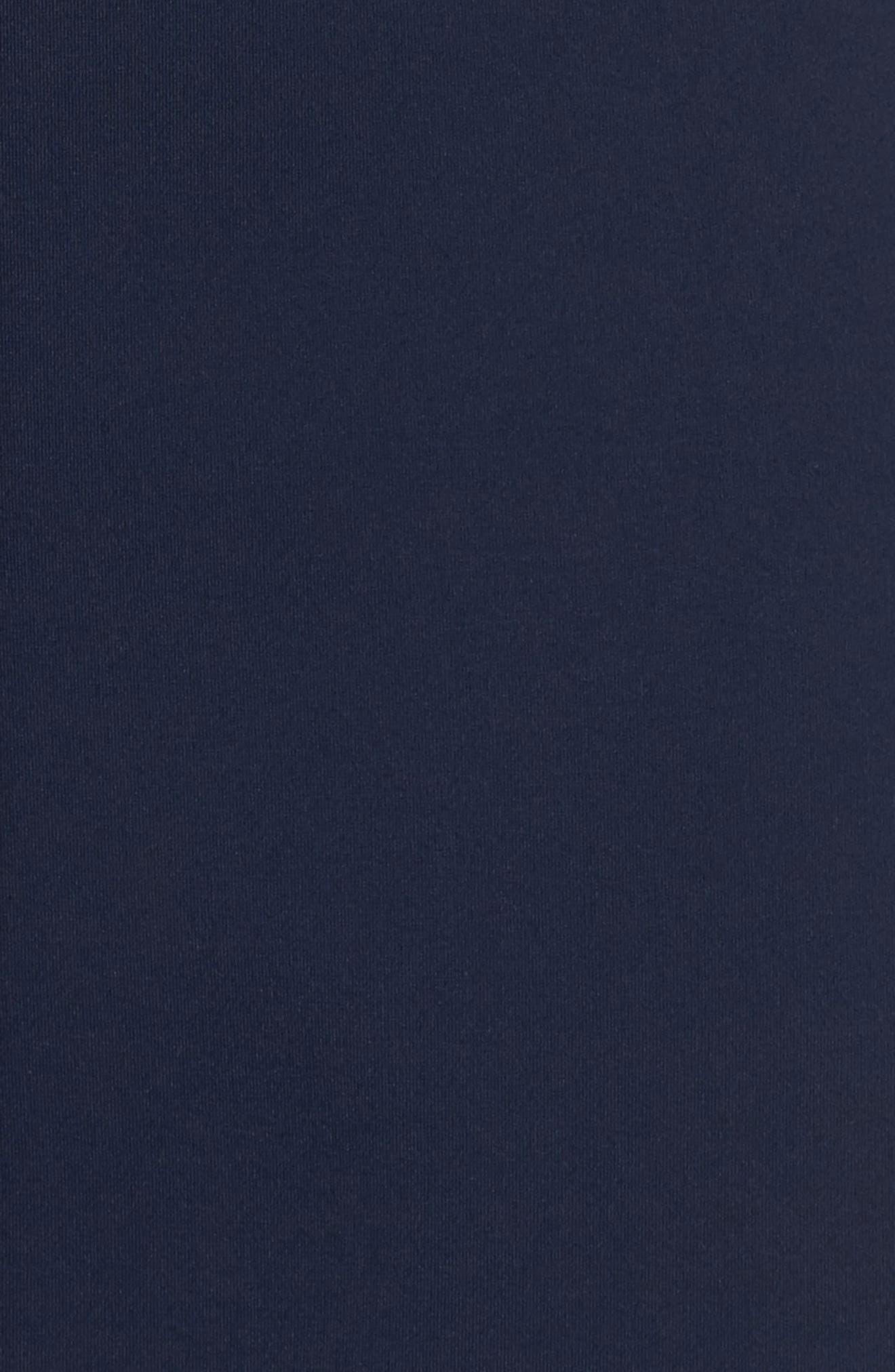 Vanessa Bell Sleeve Dress,                             Alternate thumbnail 5, color,                             Midnight Blue/ Black