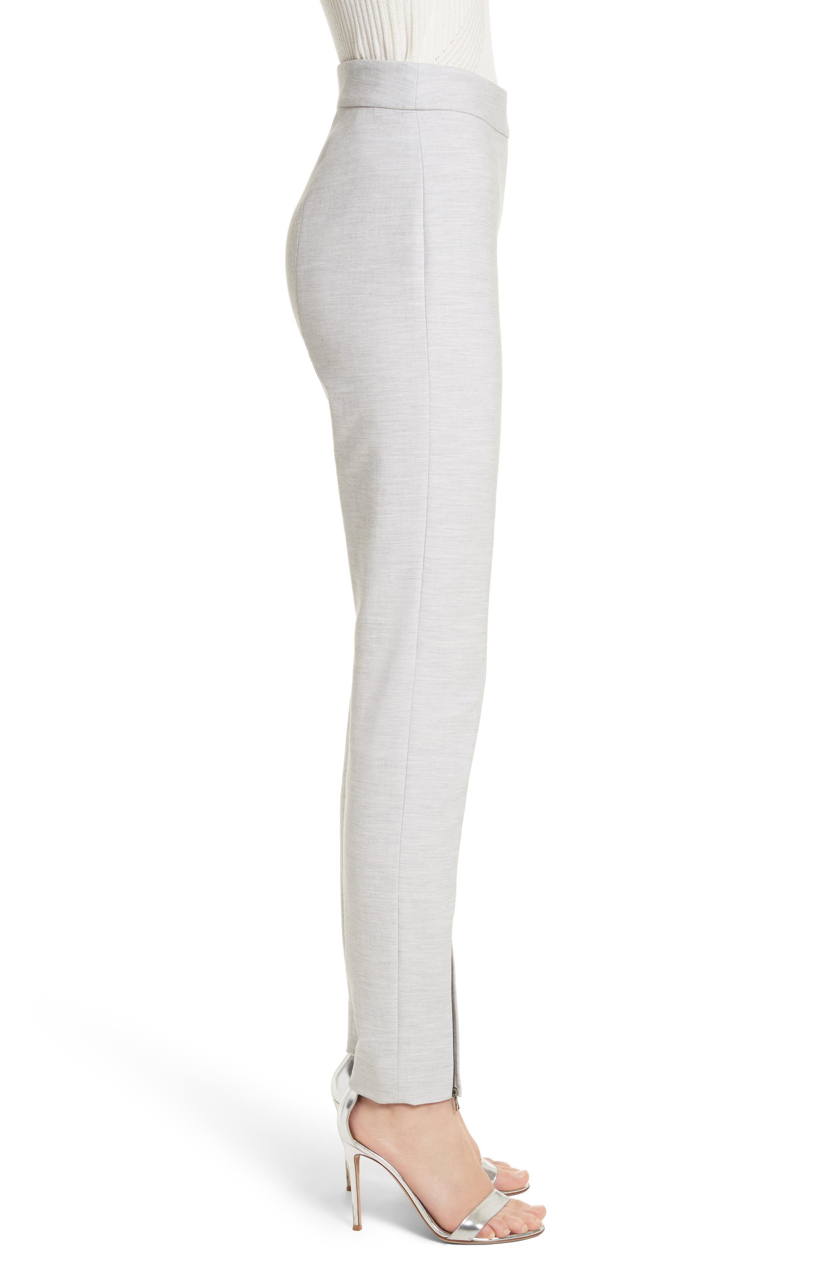 Summer Bella Double Weave Pants,                             Alternate thumbnail 8, color,                             Light Grey Melange
