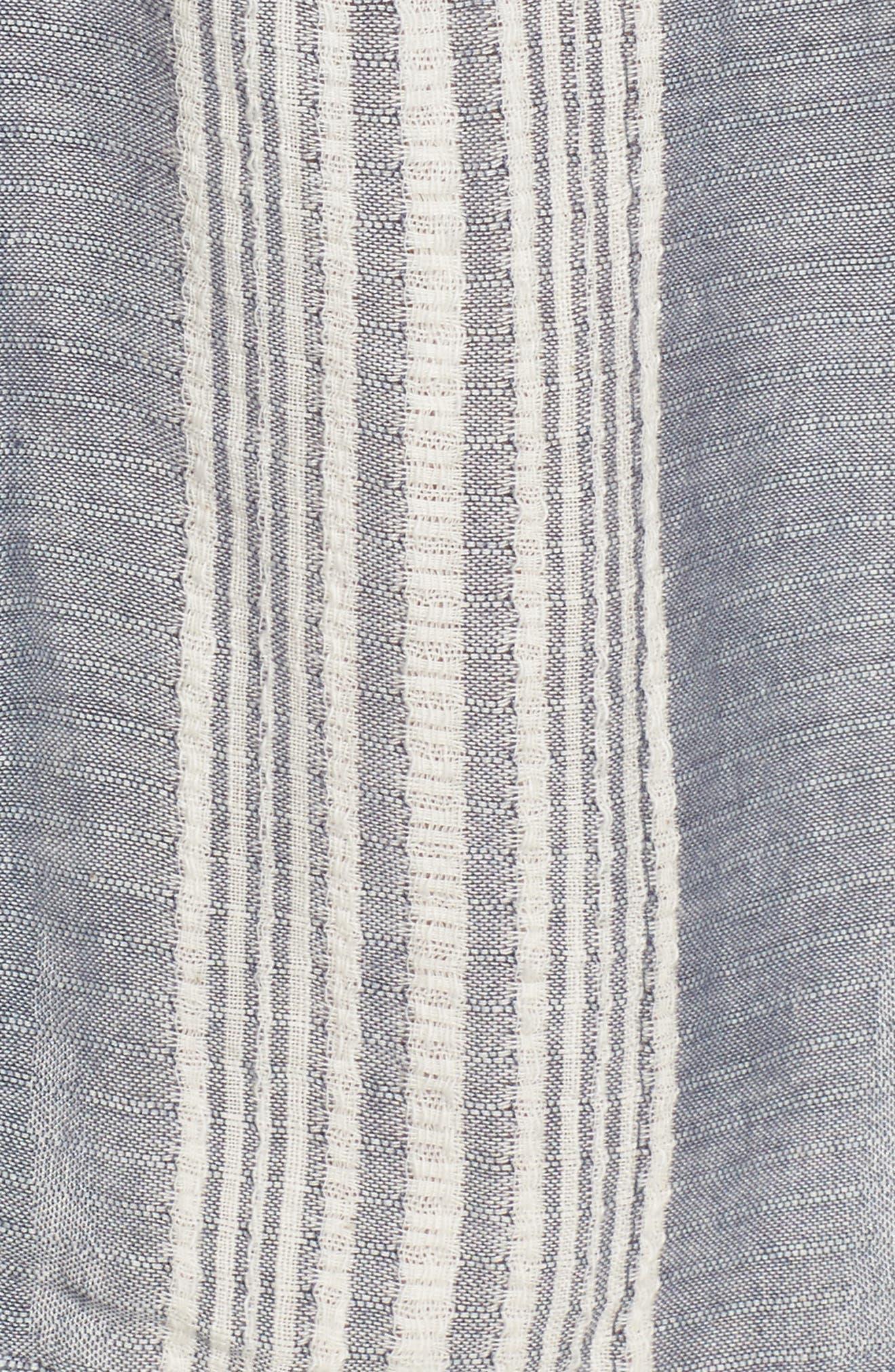 Crochet Cover-Up Tunic,                             Alternate thumbnail 5, color,                             Blue Stripe