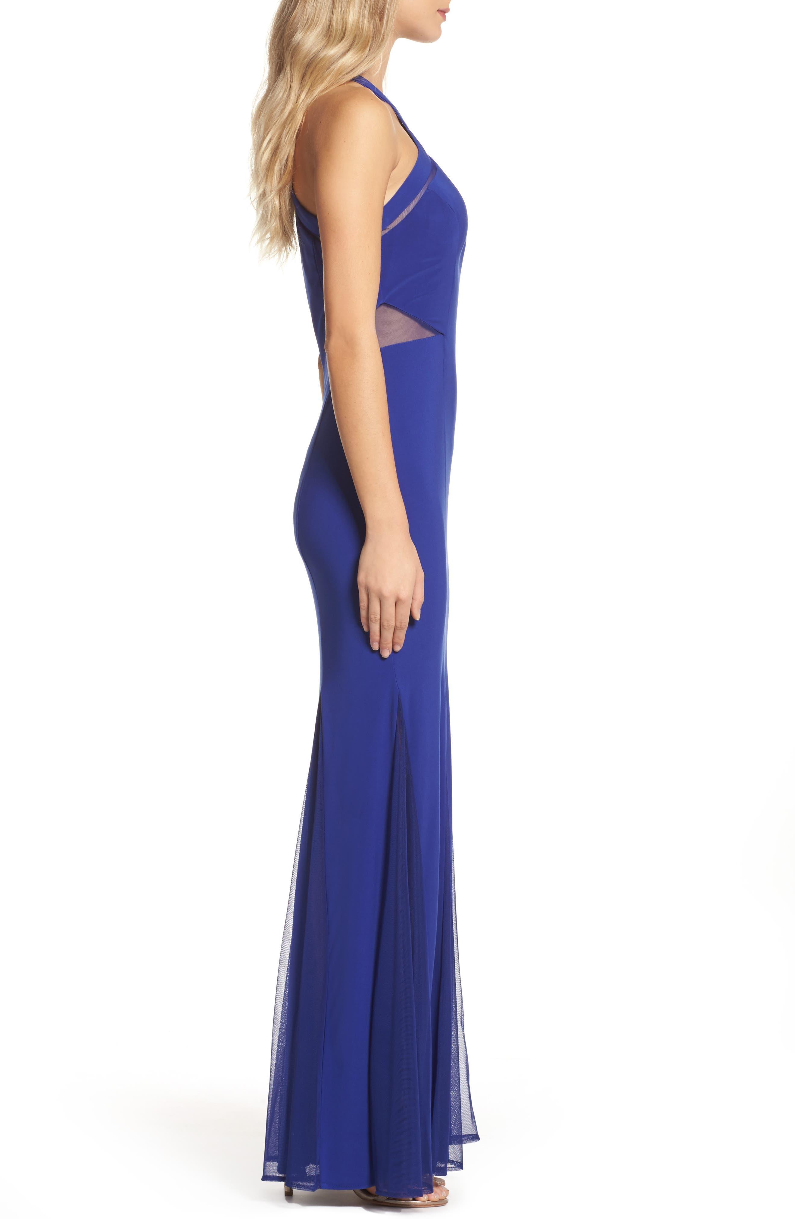 Alternate Image 3  - Morgan & Co. Mesh Inset Knit Mermaid Gown