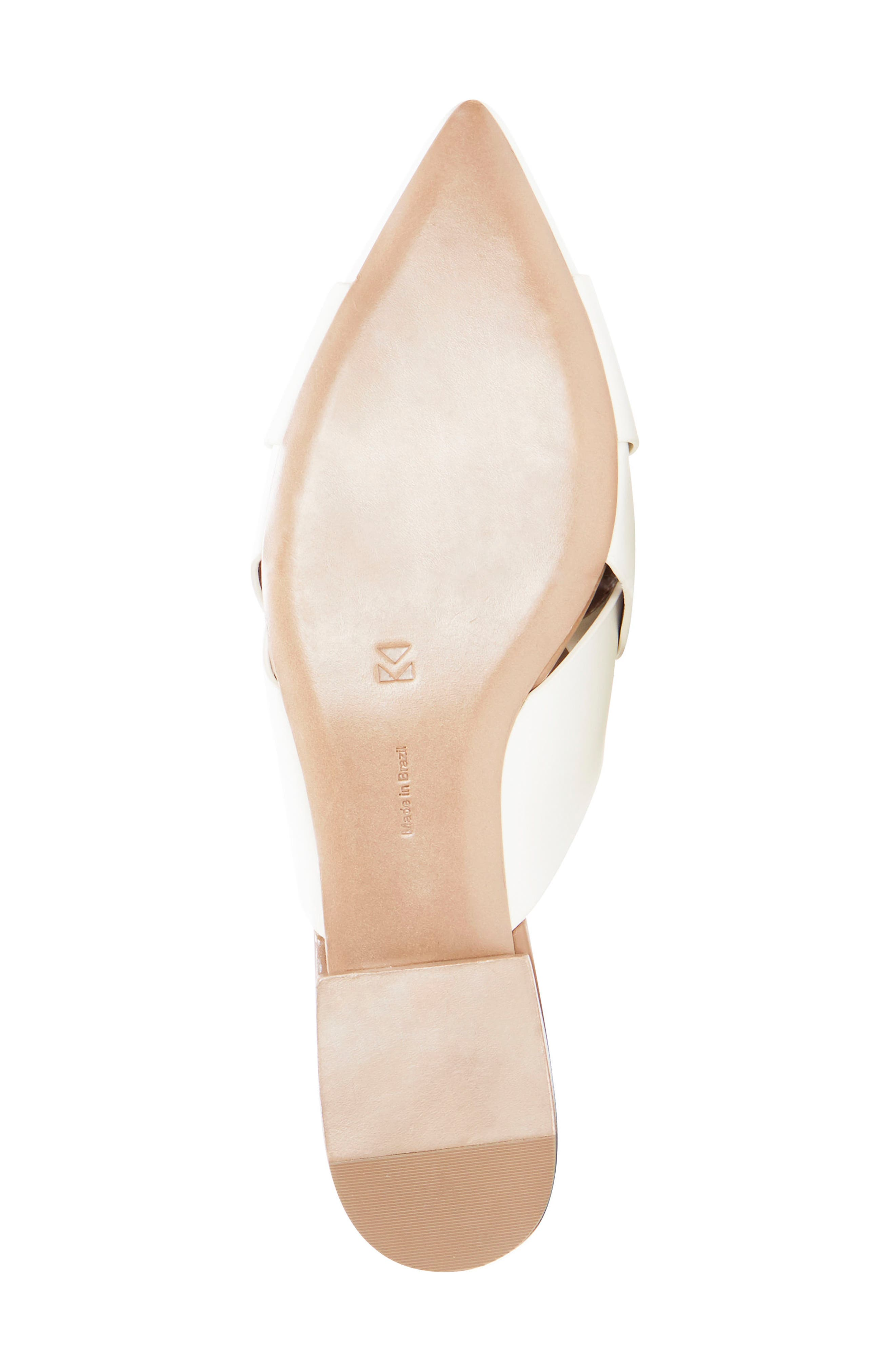 Leive Pointy Toe Mule,                             Alternate thumbnail 5, color,                             White Leather